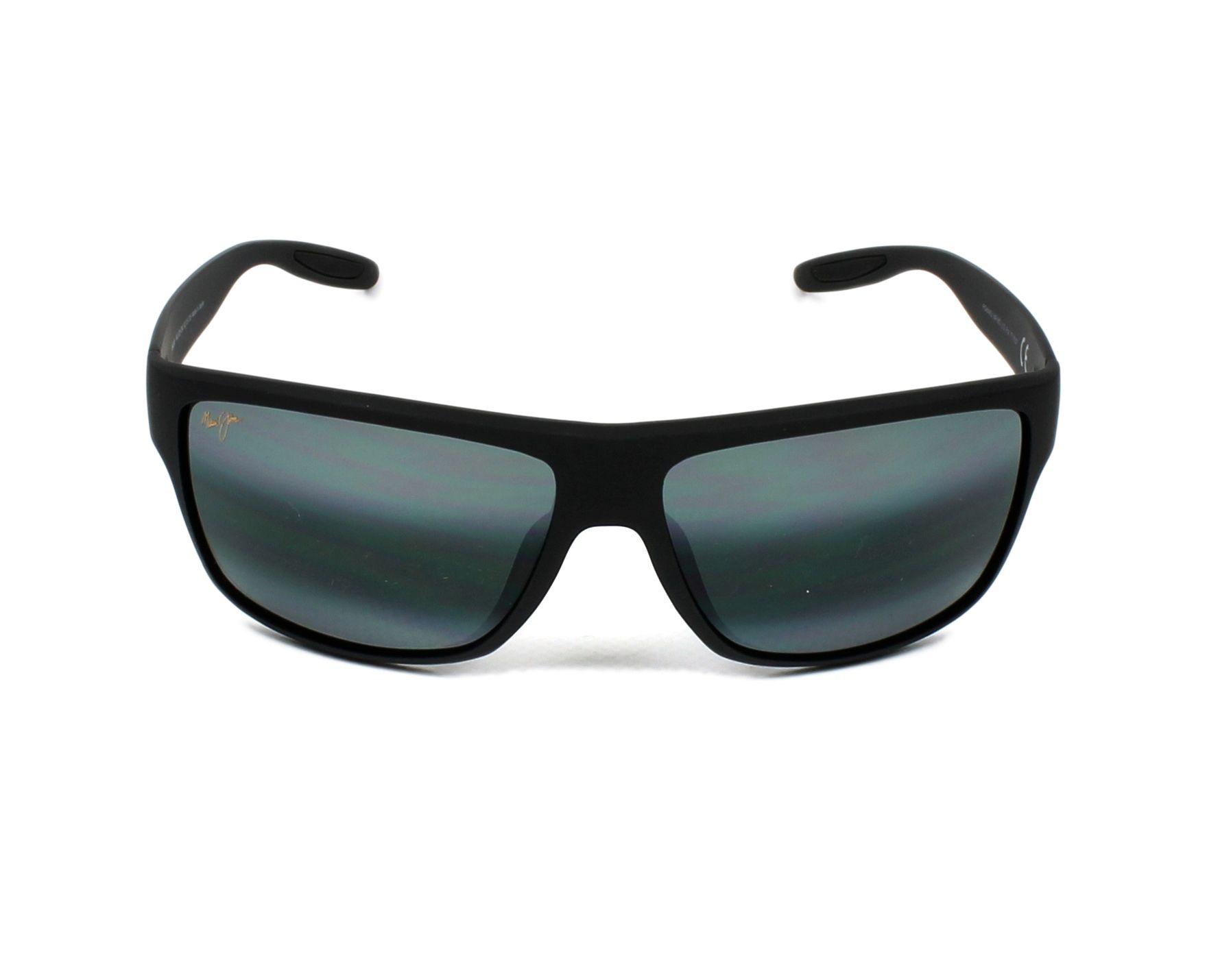 411baffb6135 Sunglasses Maui Jim 528 2M 62-15 Black front view