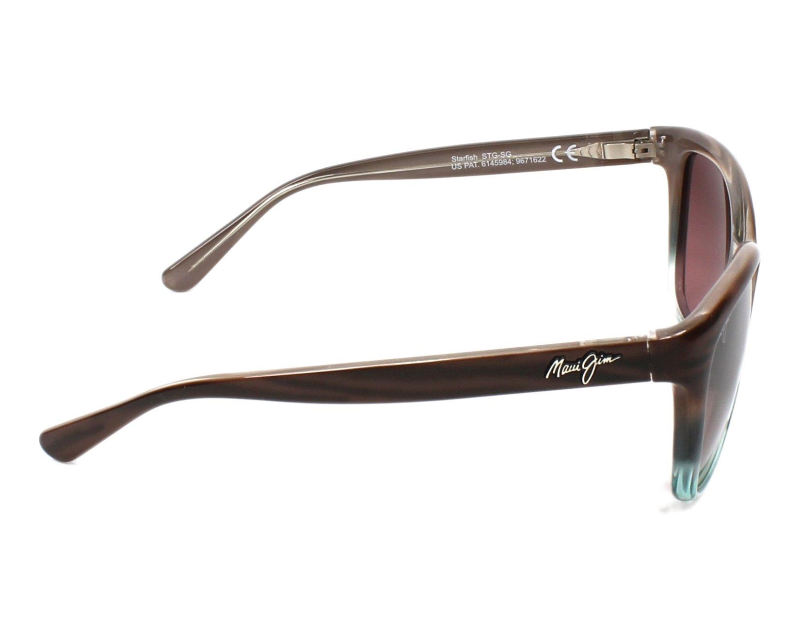 e784d199a9bae Sunglasses Maui Jim RS-744 22B - Brown Turquoise side view