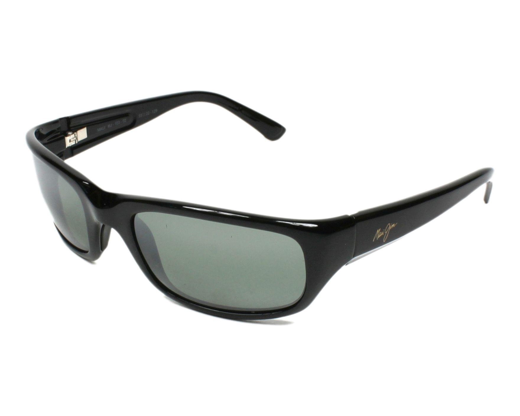 f69bde0ffec Sunglasses Maui Jim 103 02 55-22 Black profile view