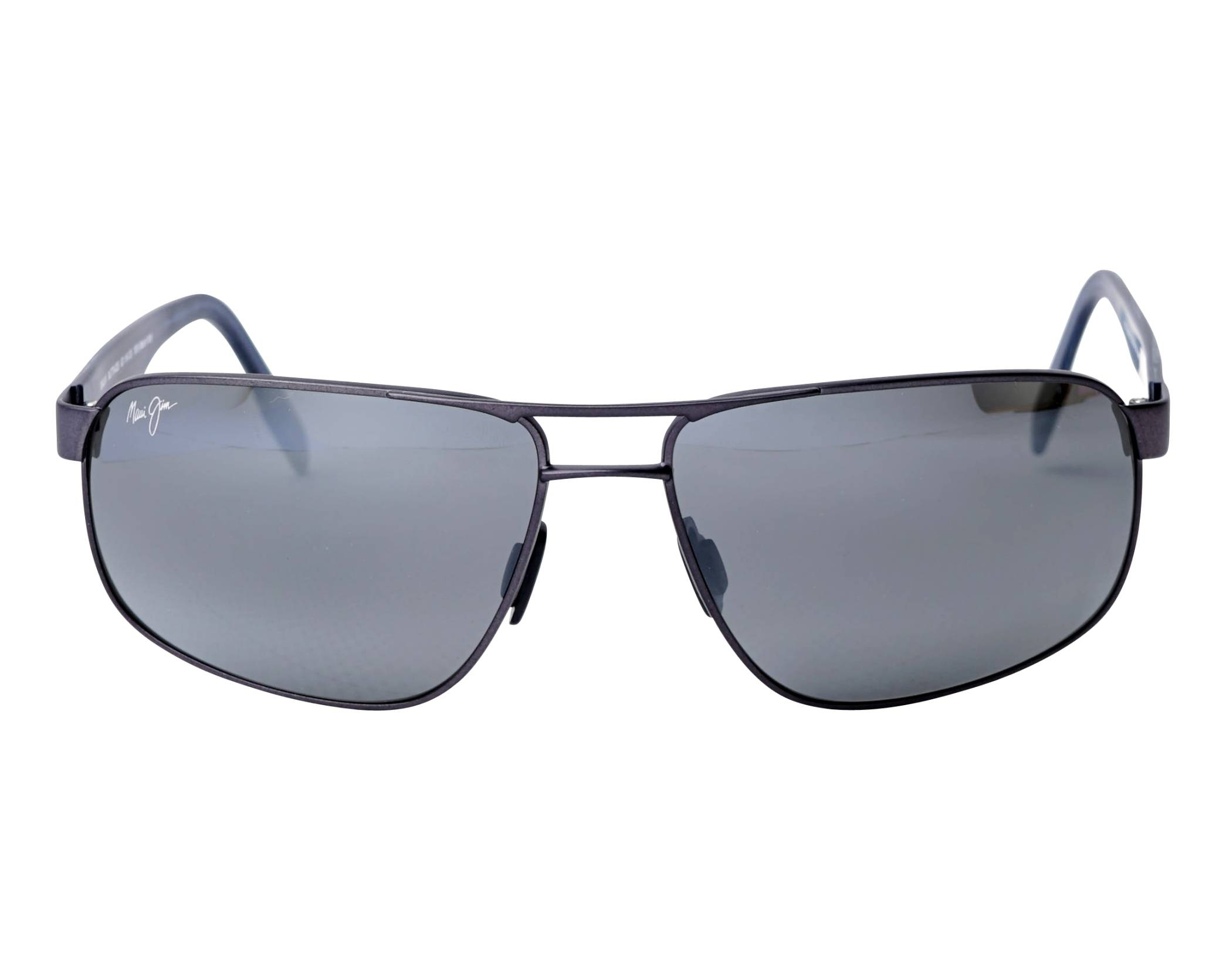 8abb7a006b Sunglasses Maui Jim WHITEHAVEN 776-02S 63-16 Black Grey front view