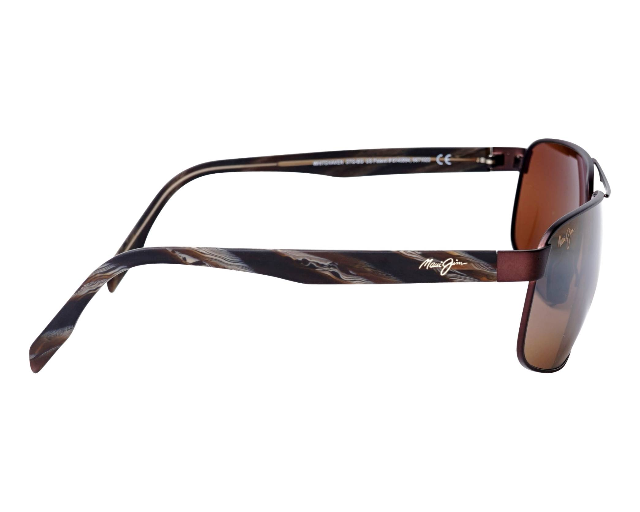 7c1f033710 Sunglasses Maui Jim WHITEHAVEN H-776-01M 63-16 Brass Brown side view