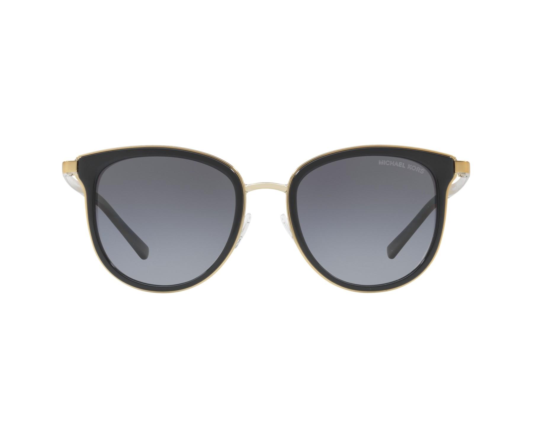 a2e835b333171 Sunglasses Michael Kors MK-1010 1100T3 54-20 Black Gold 360 degree view 1