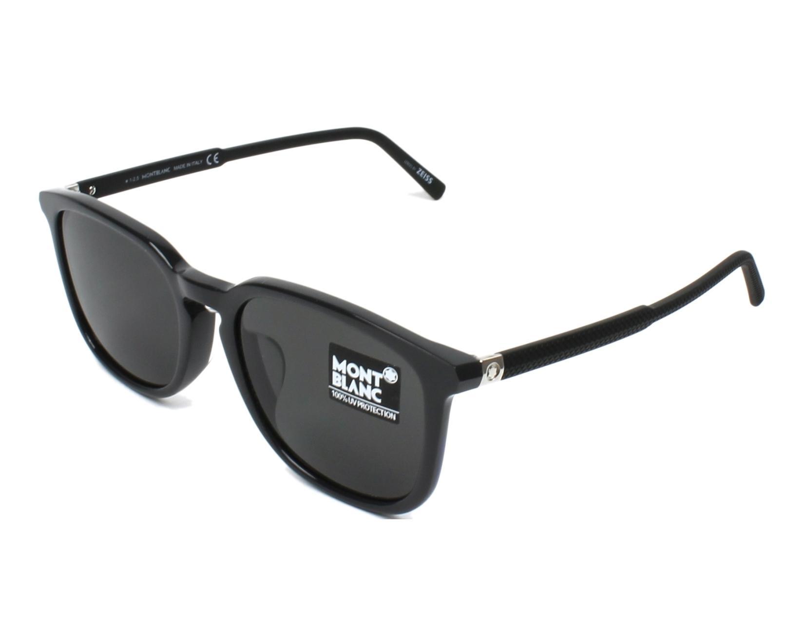 da5293cc3c Sunglasses Mont Blanc MB-586-S 20A 55-19 Grey Black profile view