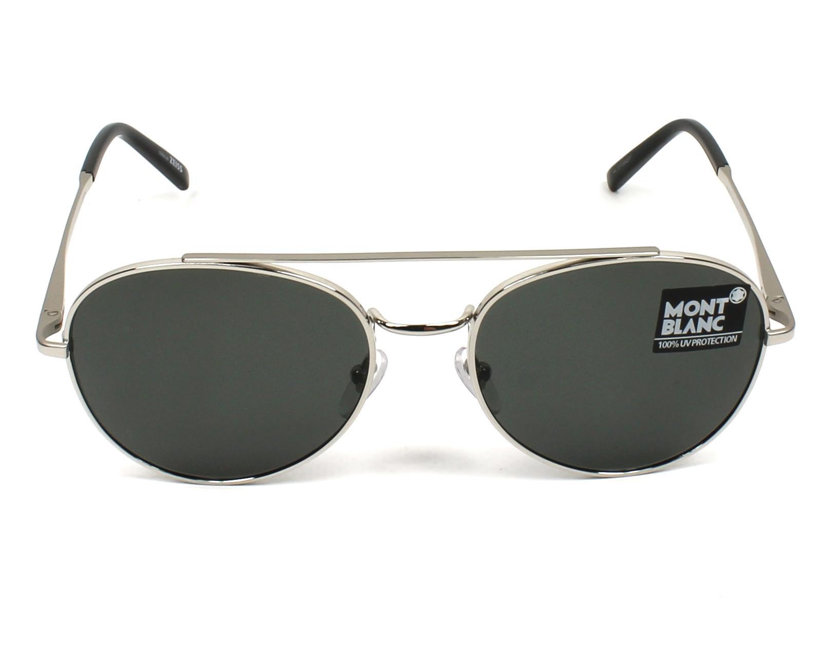 Grey Polarized MB605S 16D MONT BLANC Polarised Sunglasses Silver