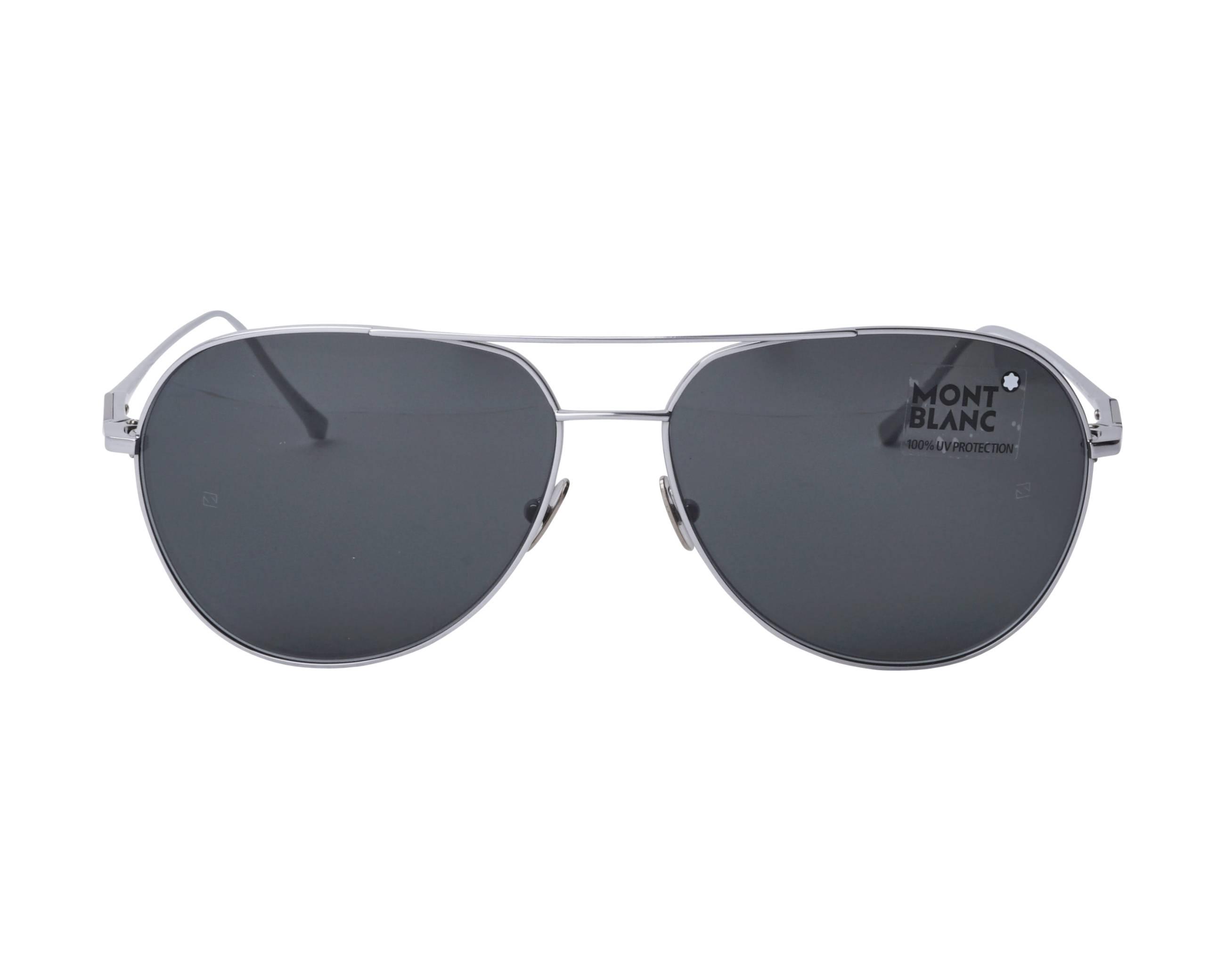 409864d7a7f Sunglasses Mont Blanc MB-657-S 16A 61-15 Ruthenium front view