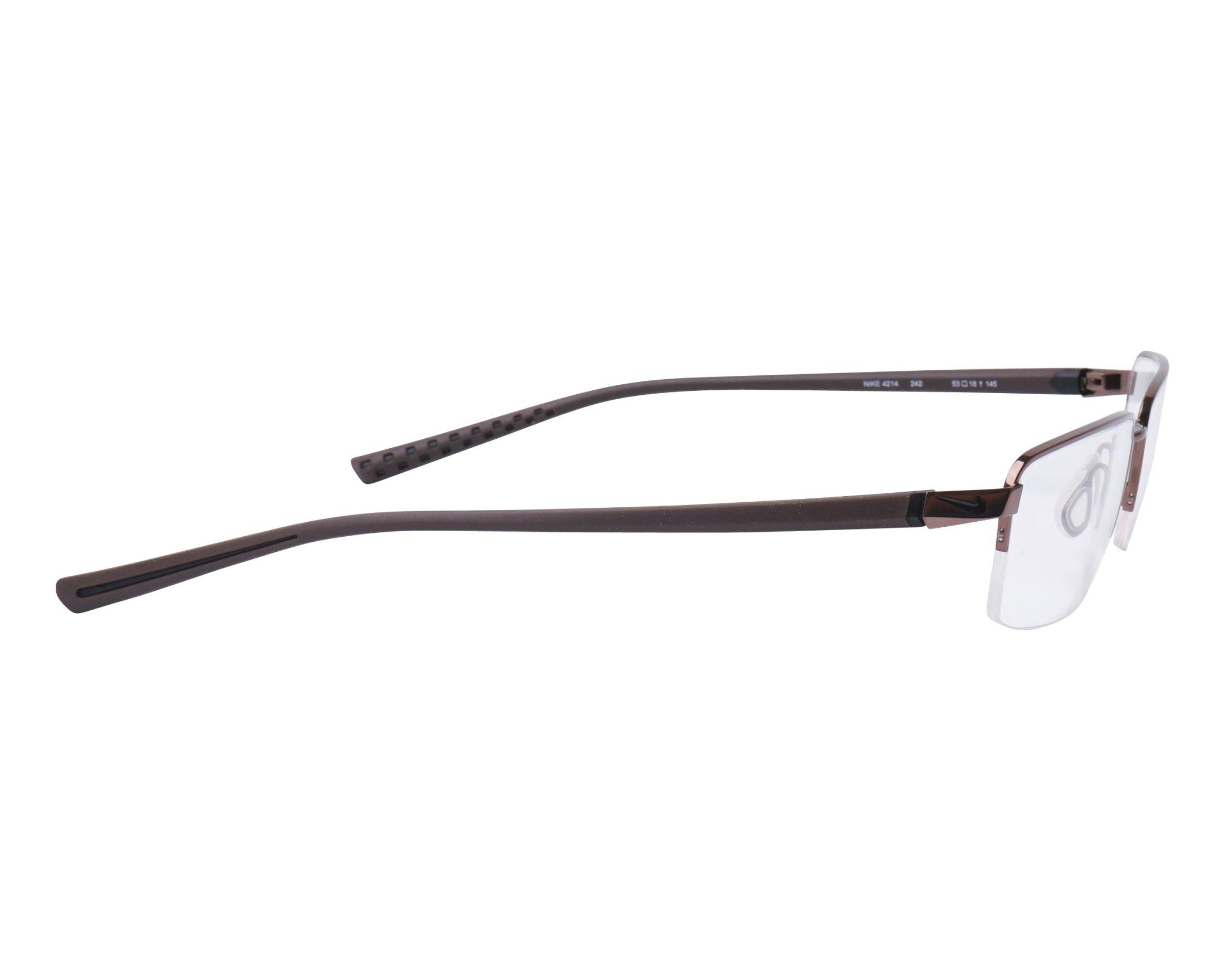 eyeglasses Nike 4214 242 53-18 Walnut Brown side view