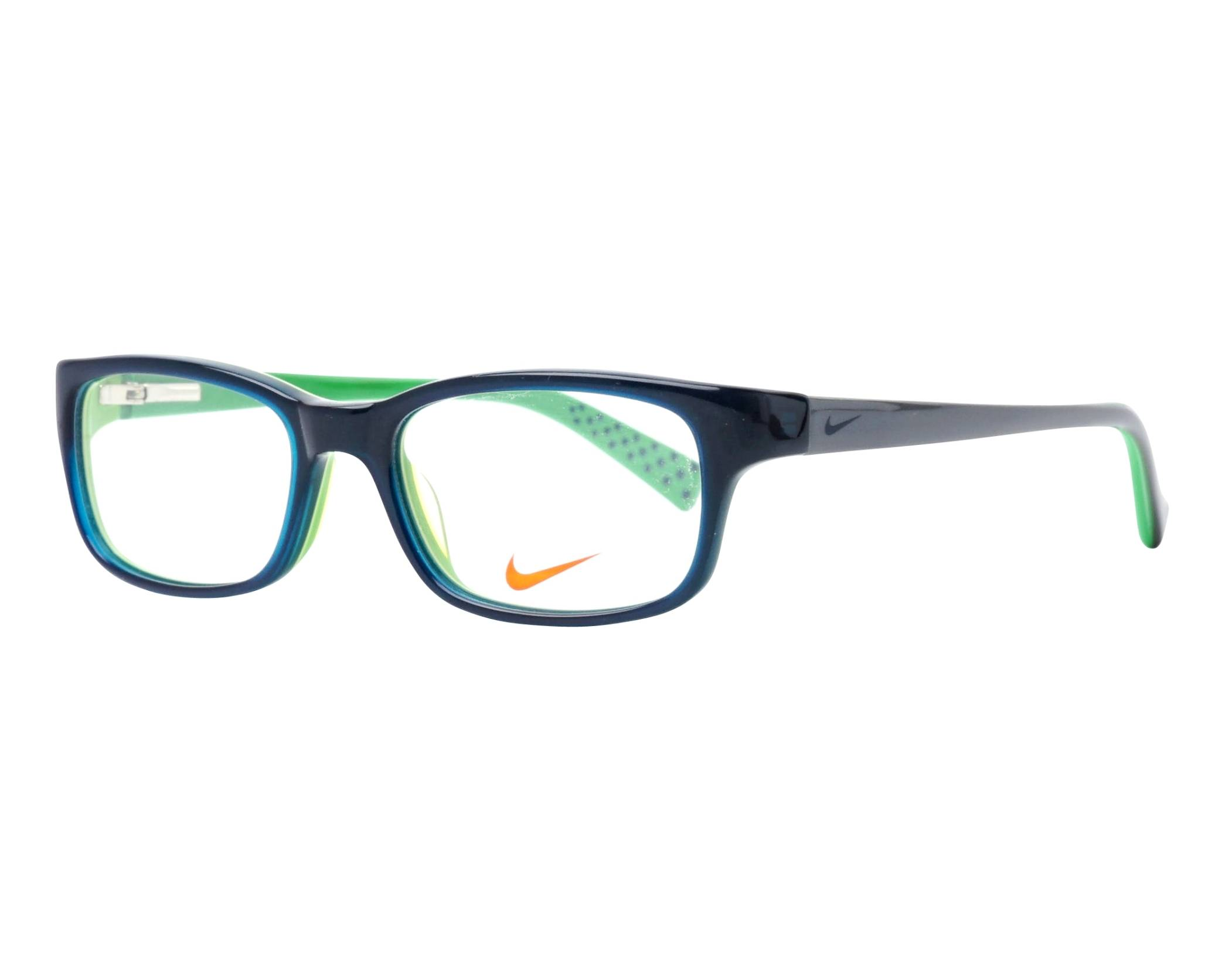 26e07f89e5a6 eyeglasses Nike 5513 325 47-16 Blue Green profile view