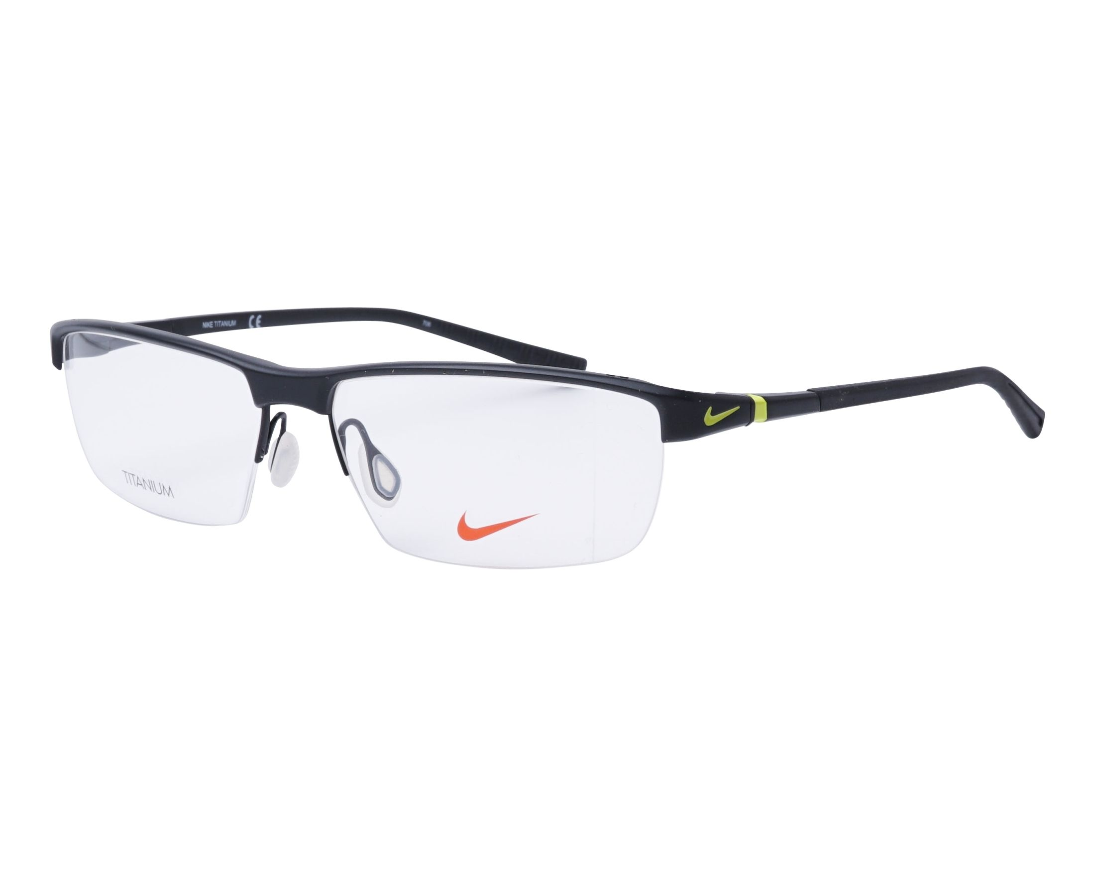 6c7d4cb61eb eyeglasses Nike 6052 002 59-15 Black profile view