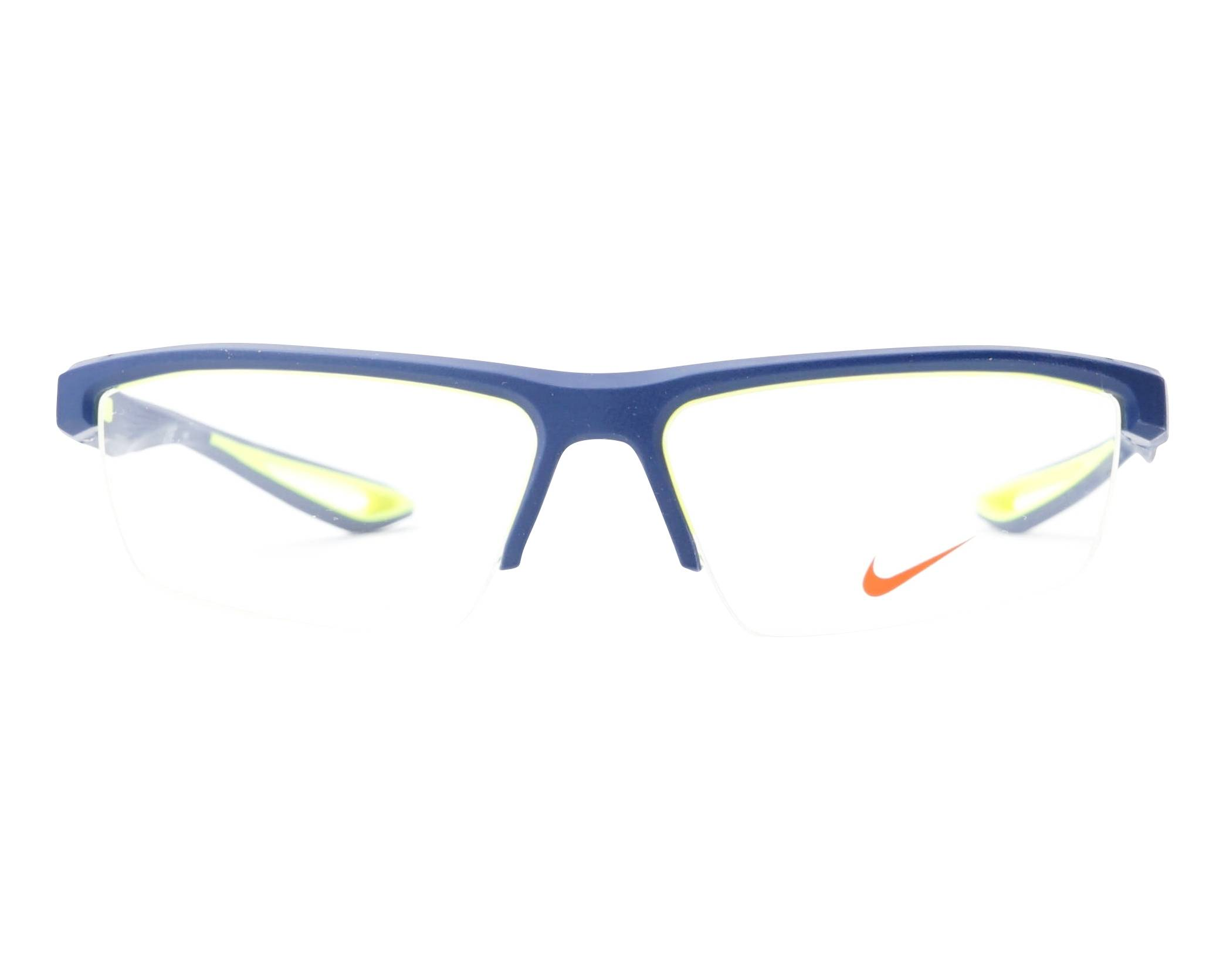 b9b90c58411f eyeglasses Nike 7079 400 57-15 Blue Yellow front view