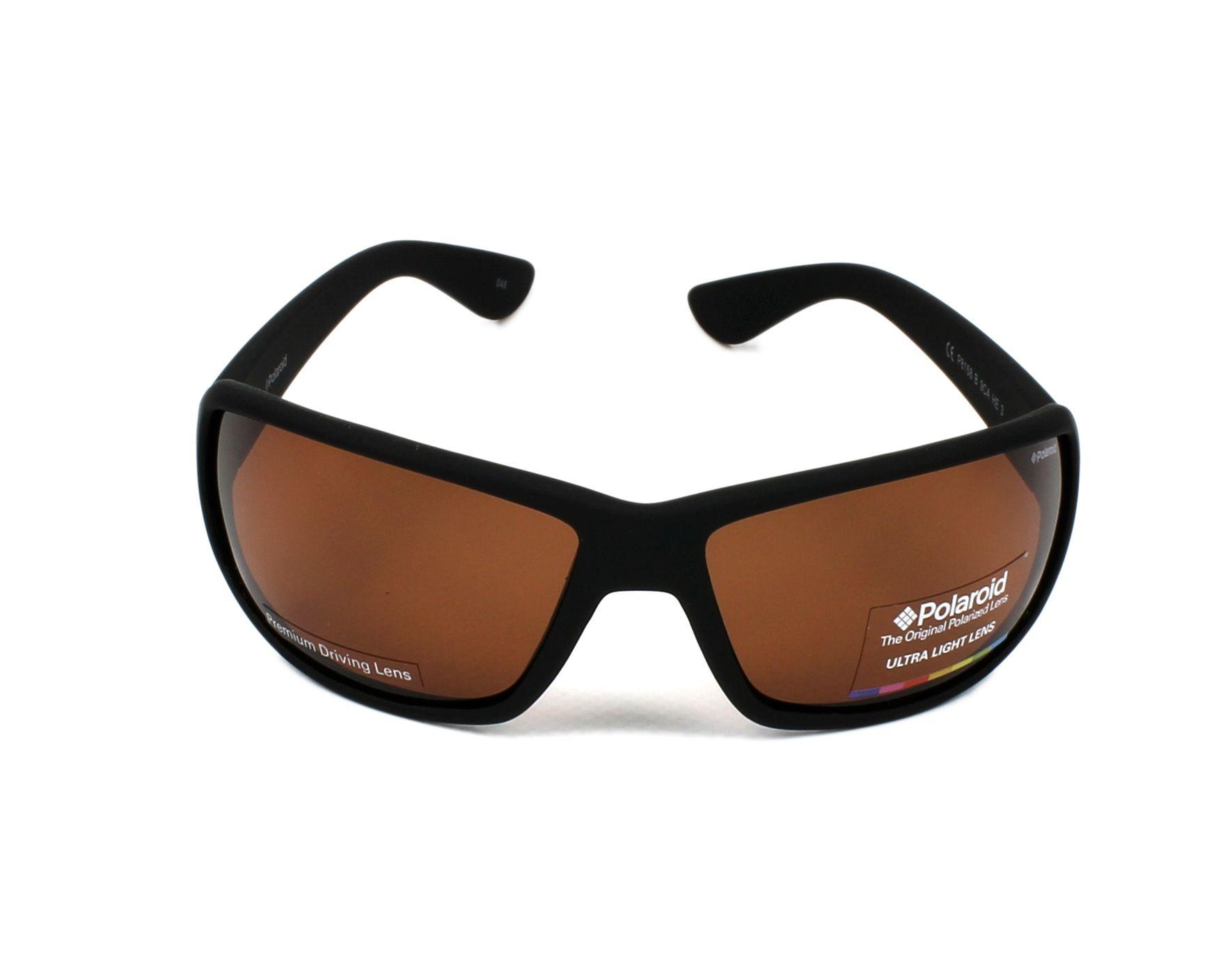535cd875b3c thumbnail Sunglasses Polaroid P-8158-B 9CA HE - Black front view