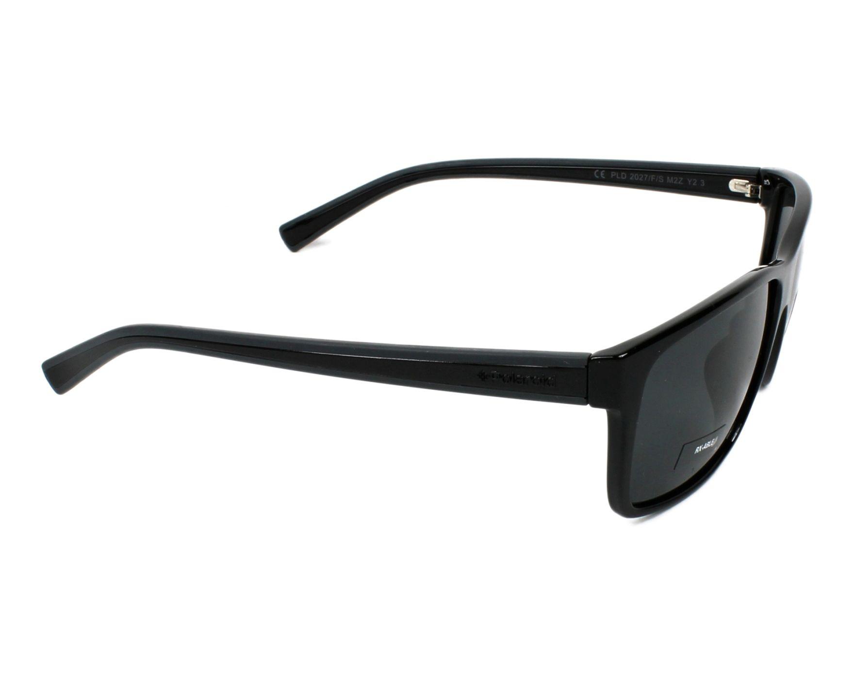 thumbnail Sunglasses Polaroid PLD-2027-FS M2Z Y2 - Black Black side view a7eb7d2622d9d
