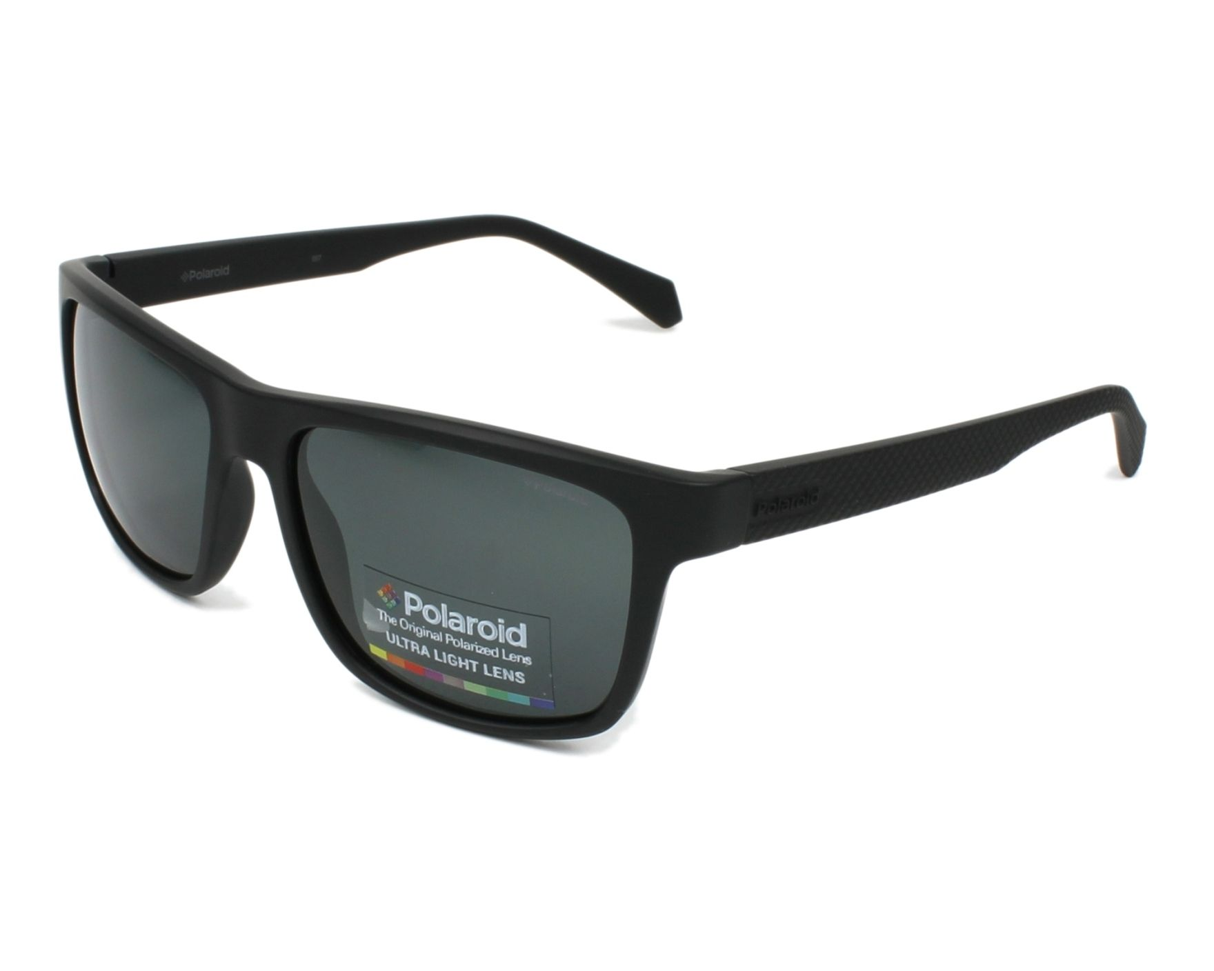 Sunglasses Polaroid PLD-2058-S 003/M9 55-16 Black profile view