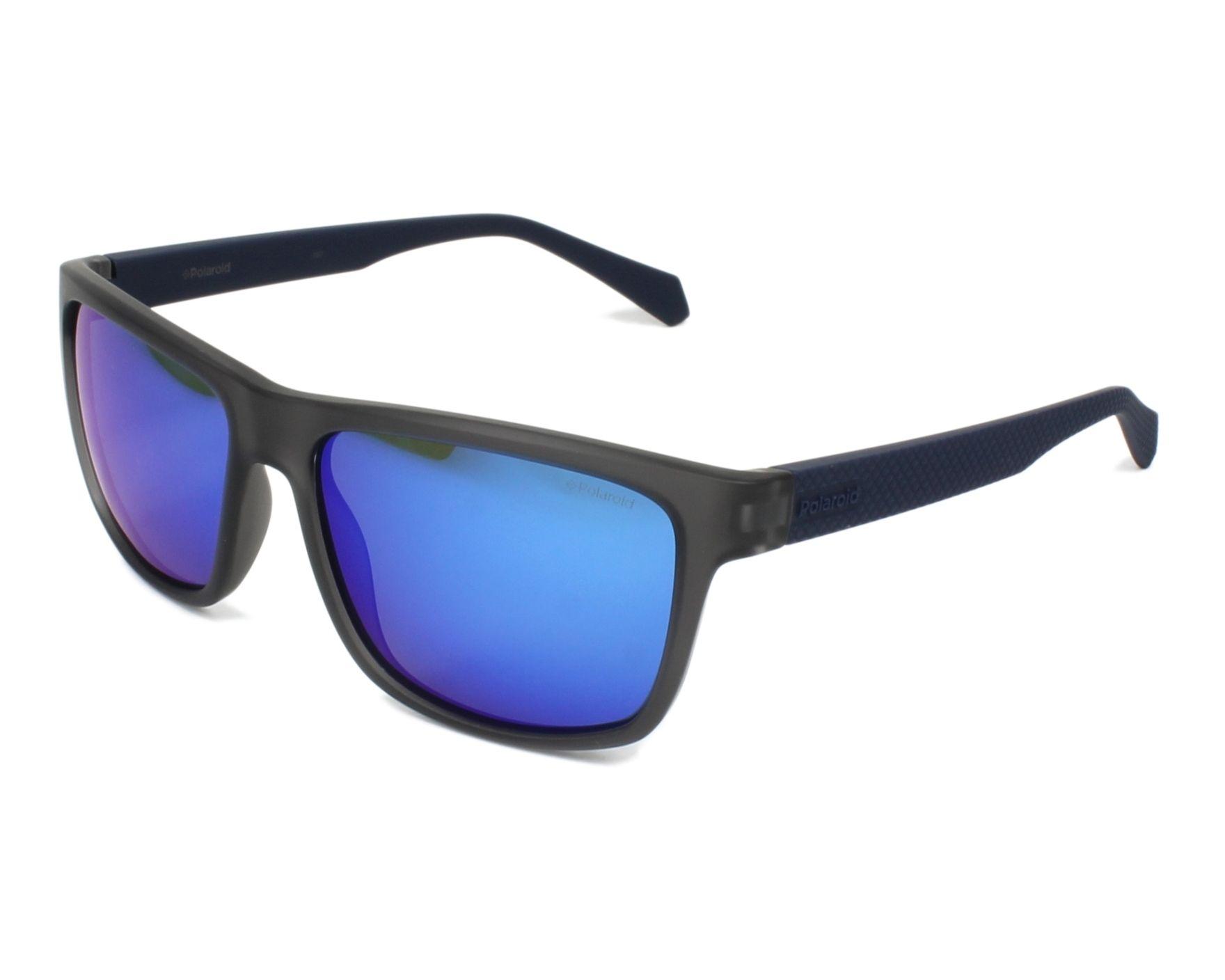 Blue Mirror Polarised RCT5X Polaroid Sunglasses PLD 2058//S Matte Blue