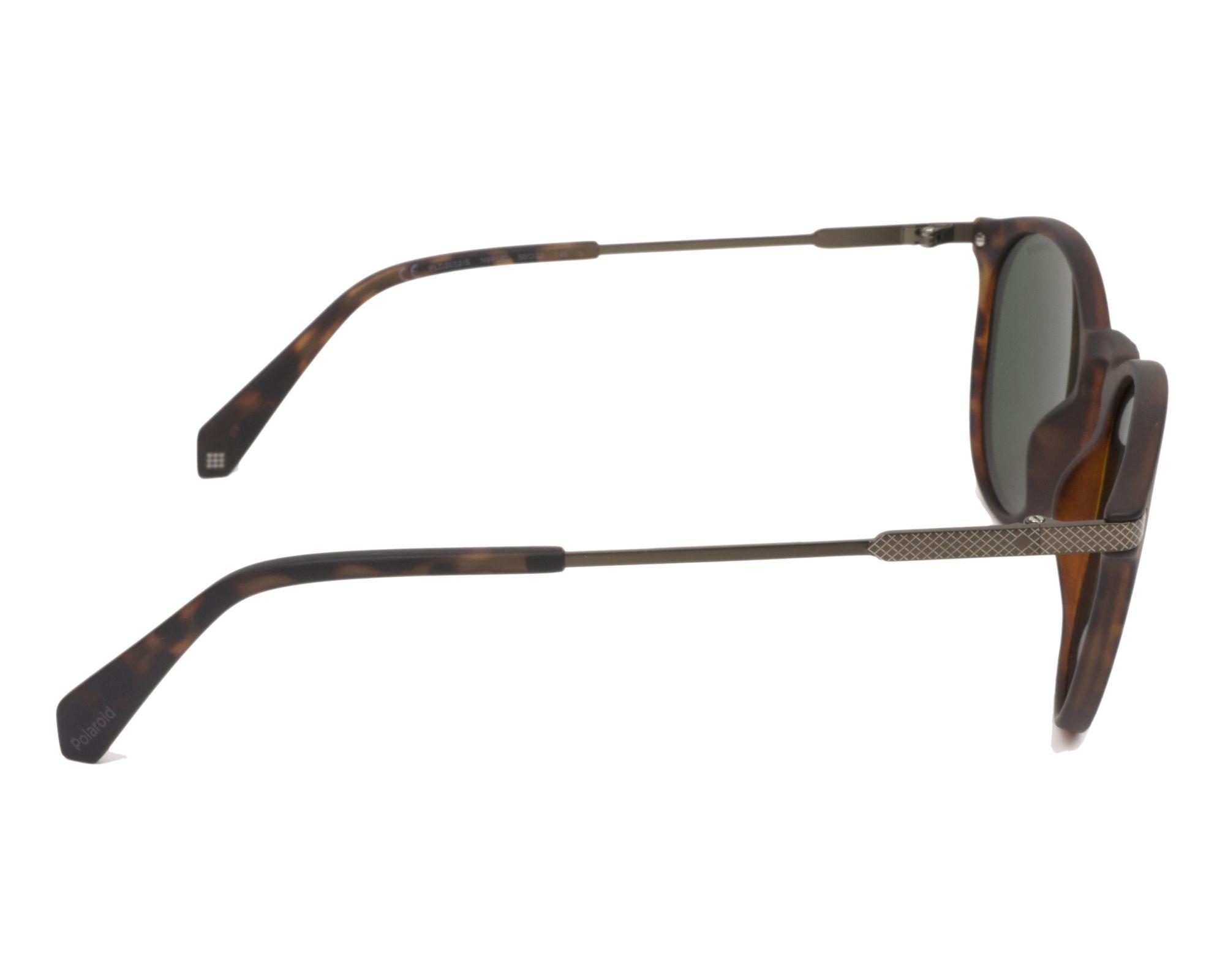 d40b10f266e Sunglasses Polaroid PLD-2062-S N9P UC 50-22 Havana Brass side