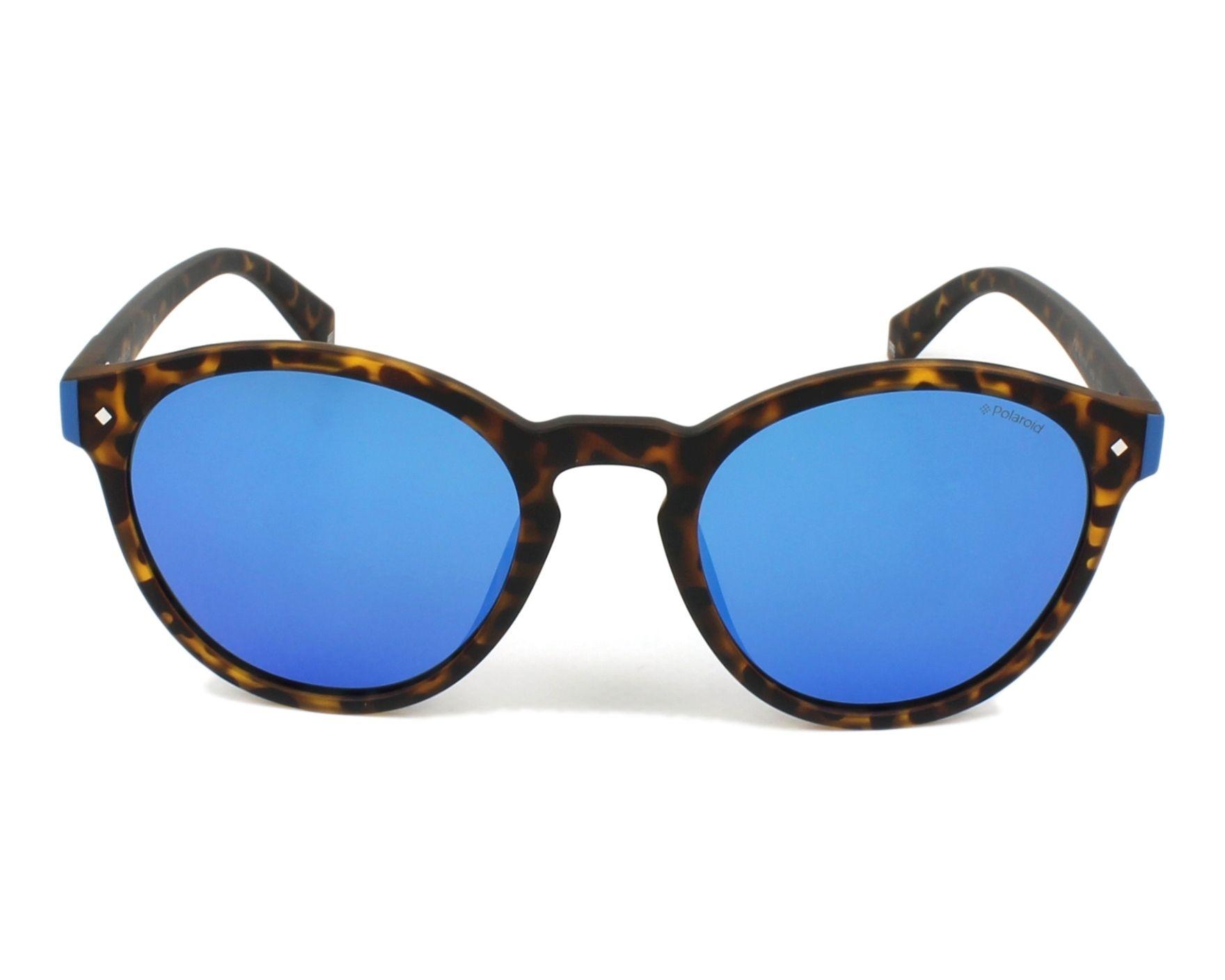 cbc555f22a7 thumbnail Sunglasses Polaroid PLD-6034-S N9P 5X - Havana Blue front view