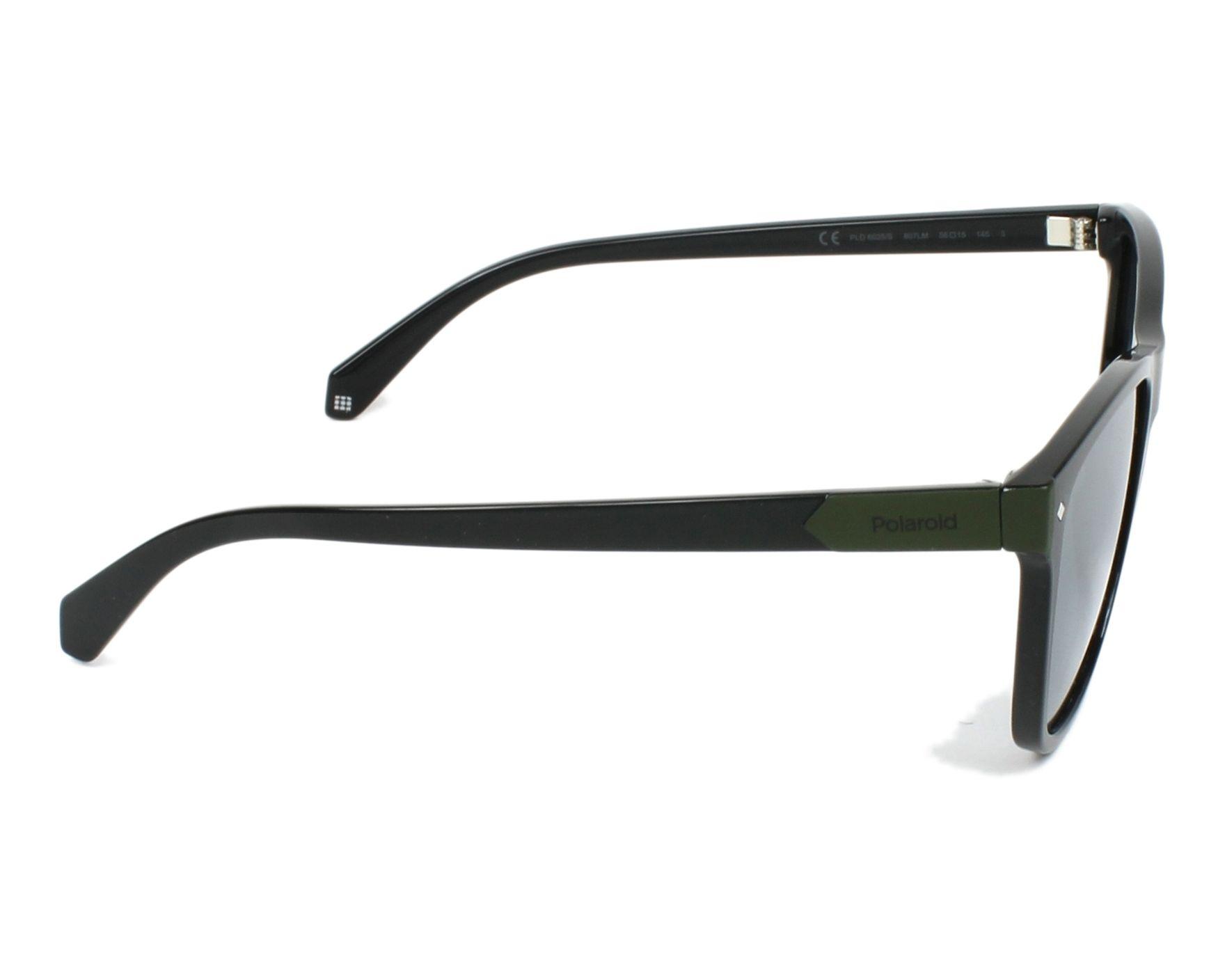 Sunglasses Polaroid PLD-6035-S 807 LM 56-15 Black Green side 9749f489662