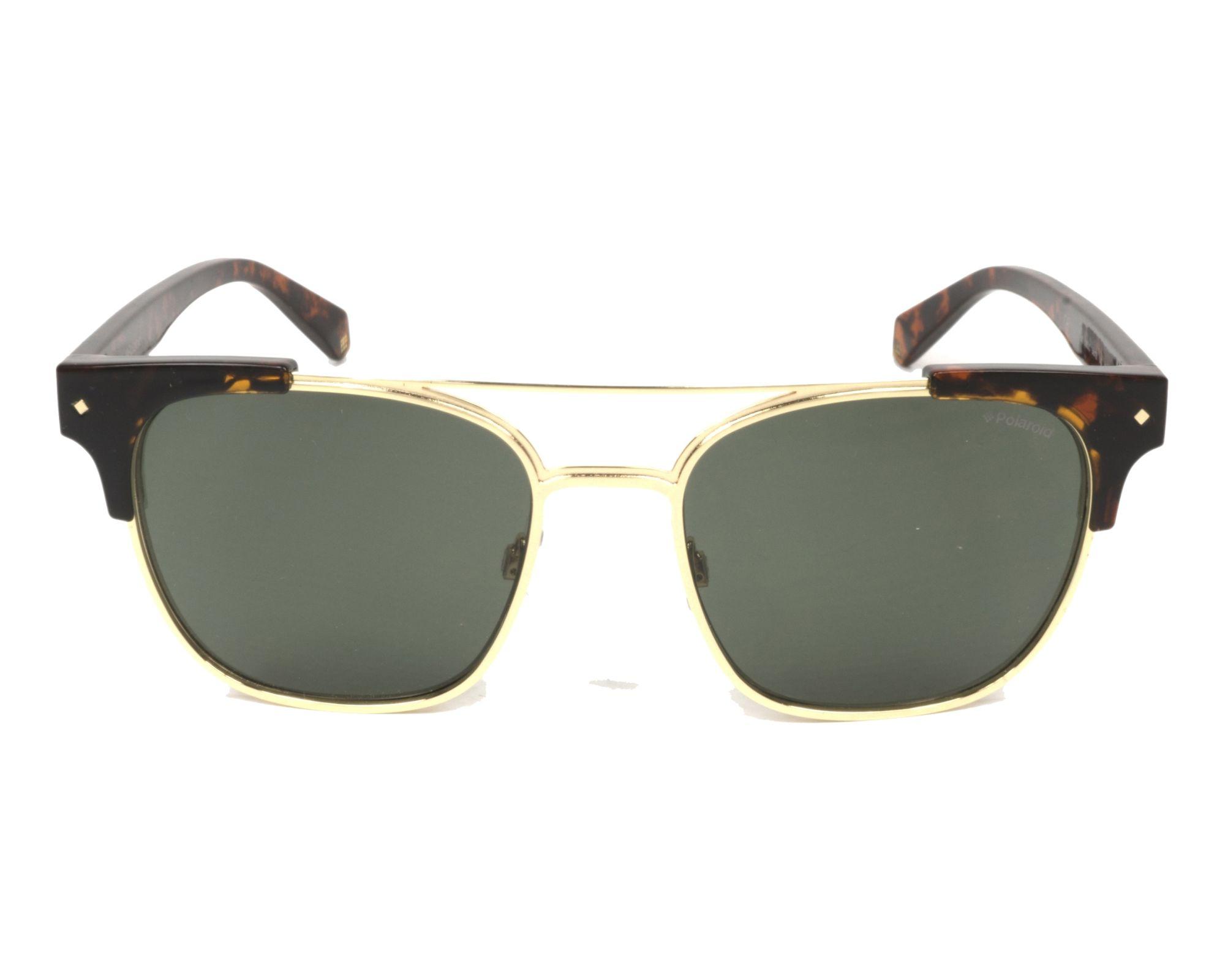 Sunglasses Polaroid PLD-6039-S-X 086 UC 54-18 Havana Gold front d03ff0f5ee