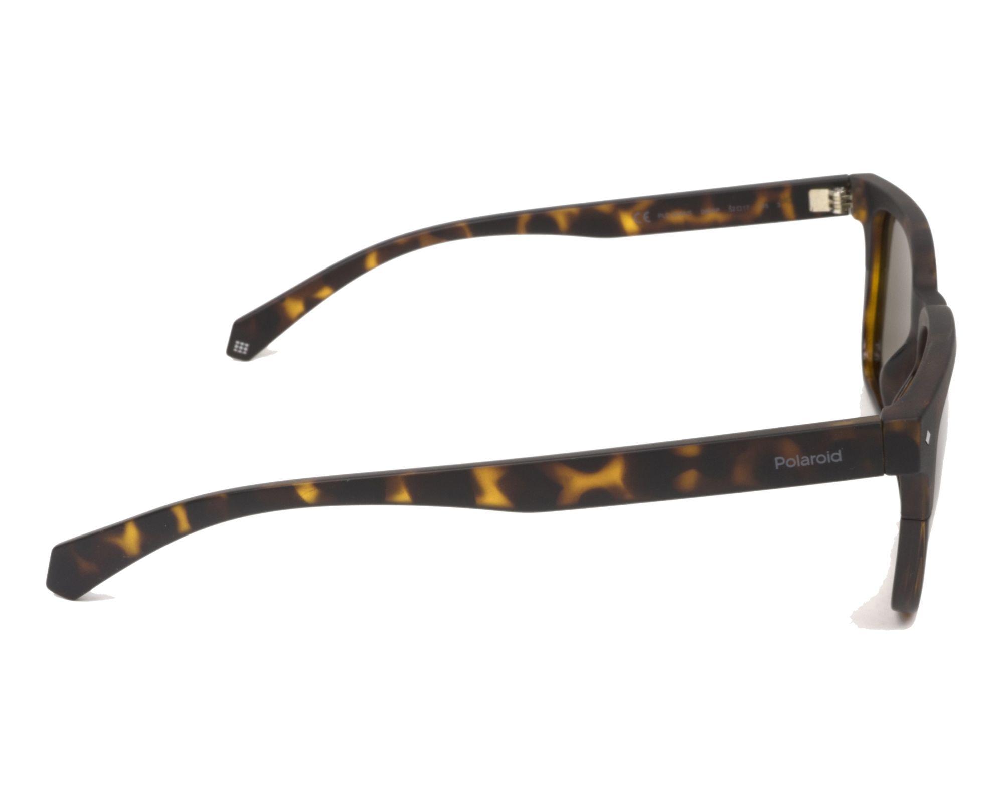 9d871eac929 Sunglasses Polaroid PLD-6044-S 086 SP 52-17 Havana Havana side