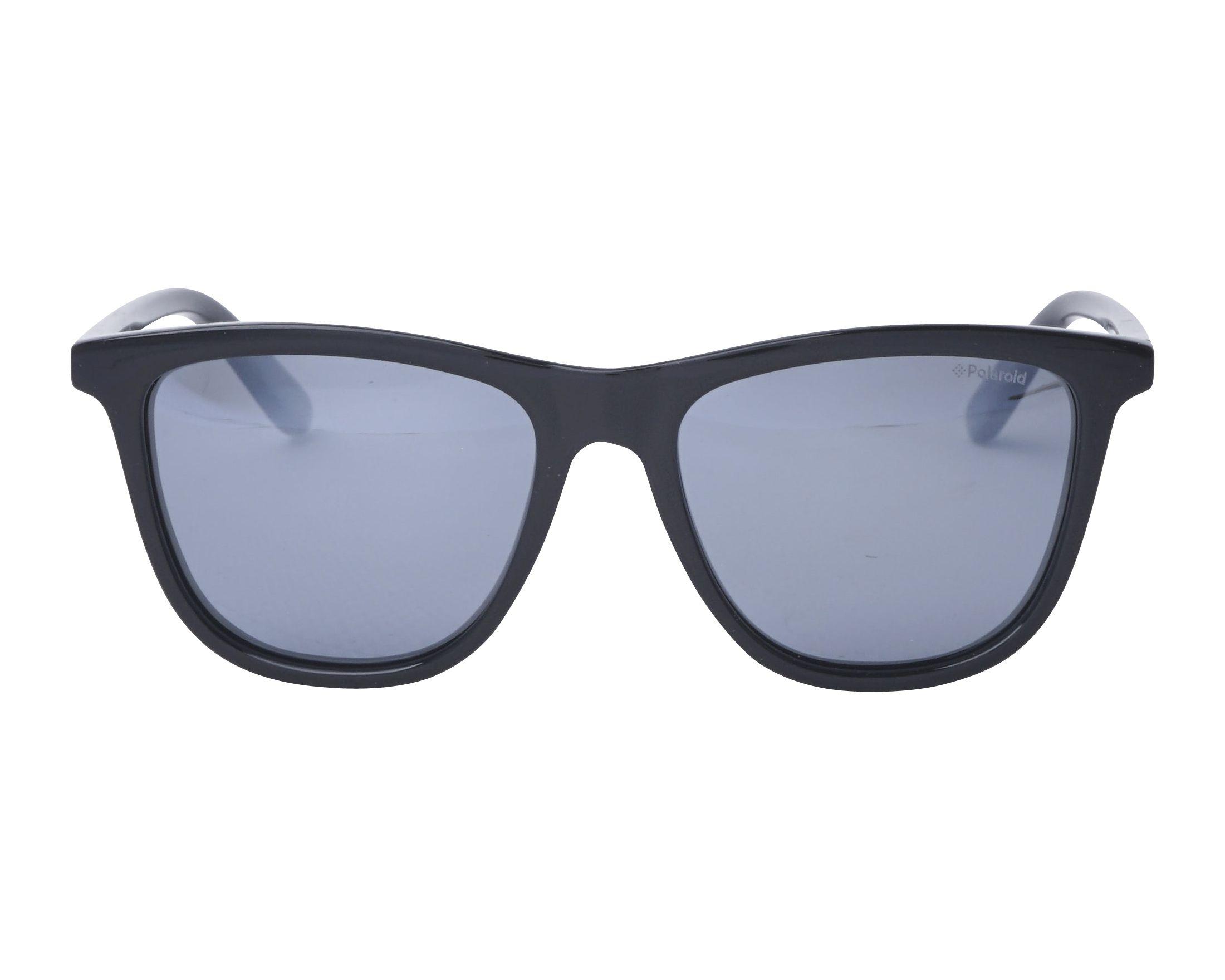1ae3d2df78 Sunglasses Polaroid PLD-8027-S 807EX 47-15 Black front view