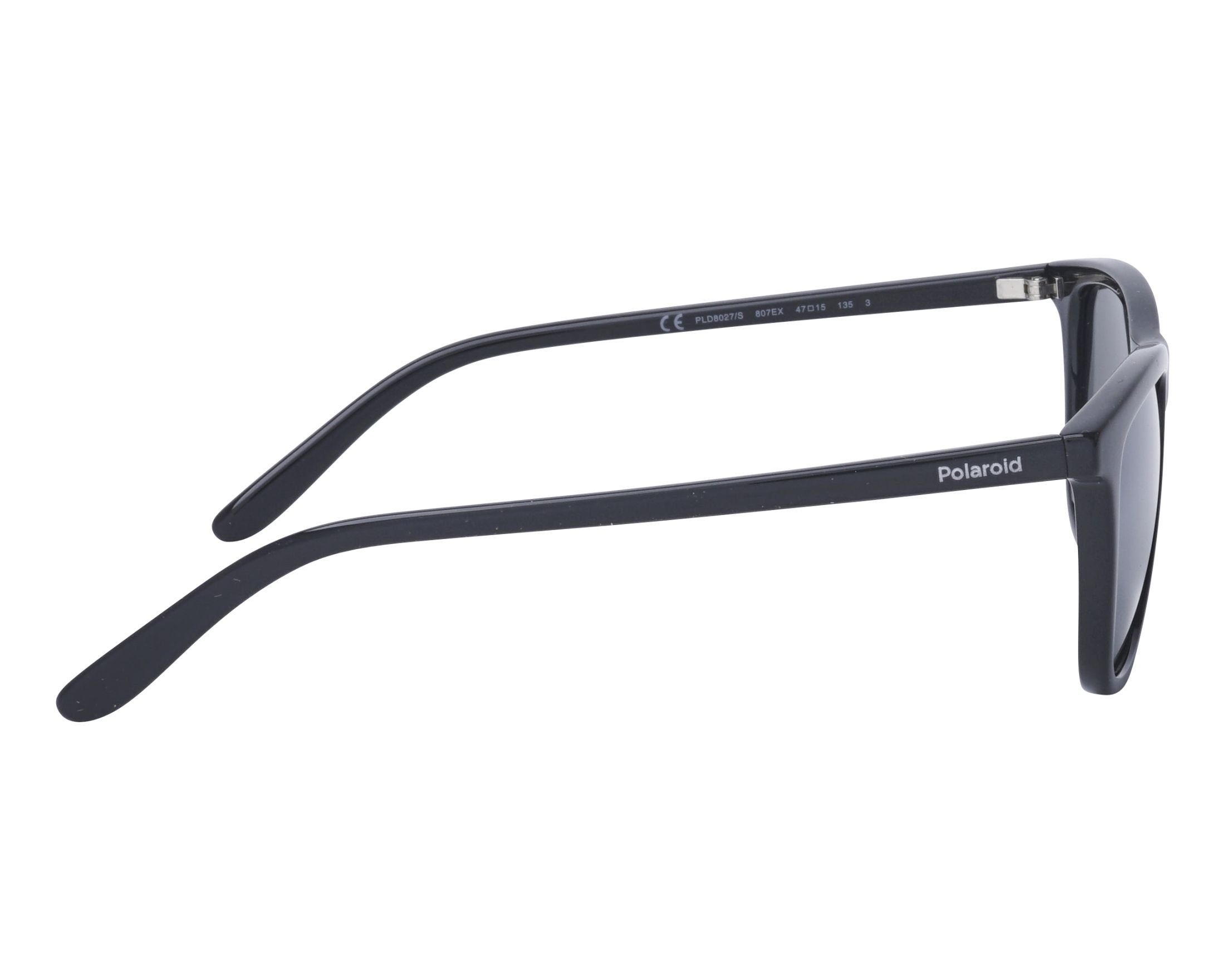 6a7a594b67 Sunglasses Polaroid PLD-8027-S 807EX 47-15 Black side view