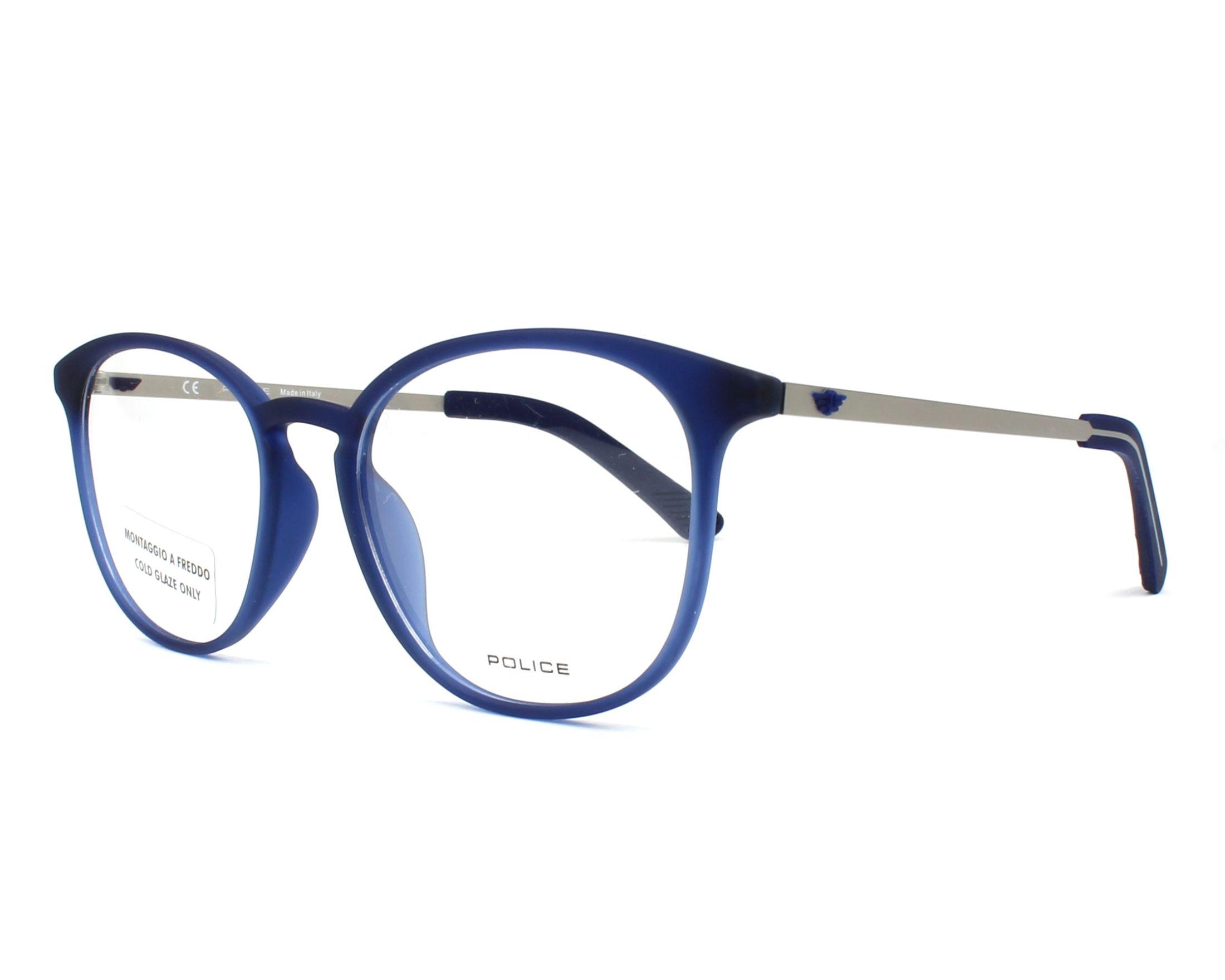 eyeglasses Police VPL-554 092E 51-18 Blue Gun profile view b14fee121f29