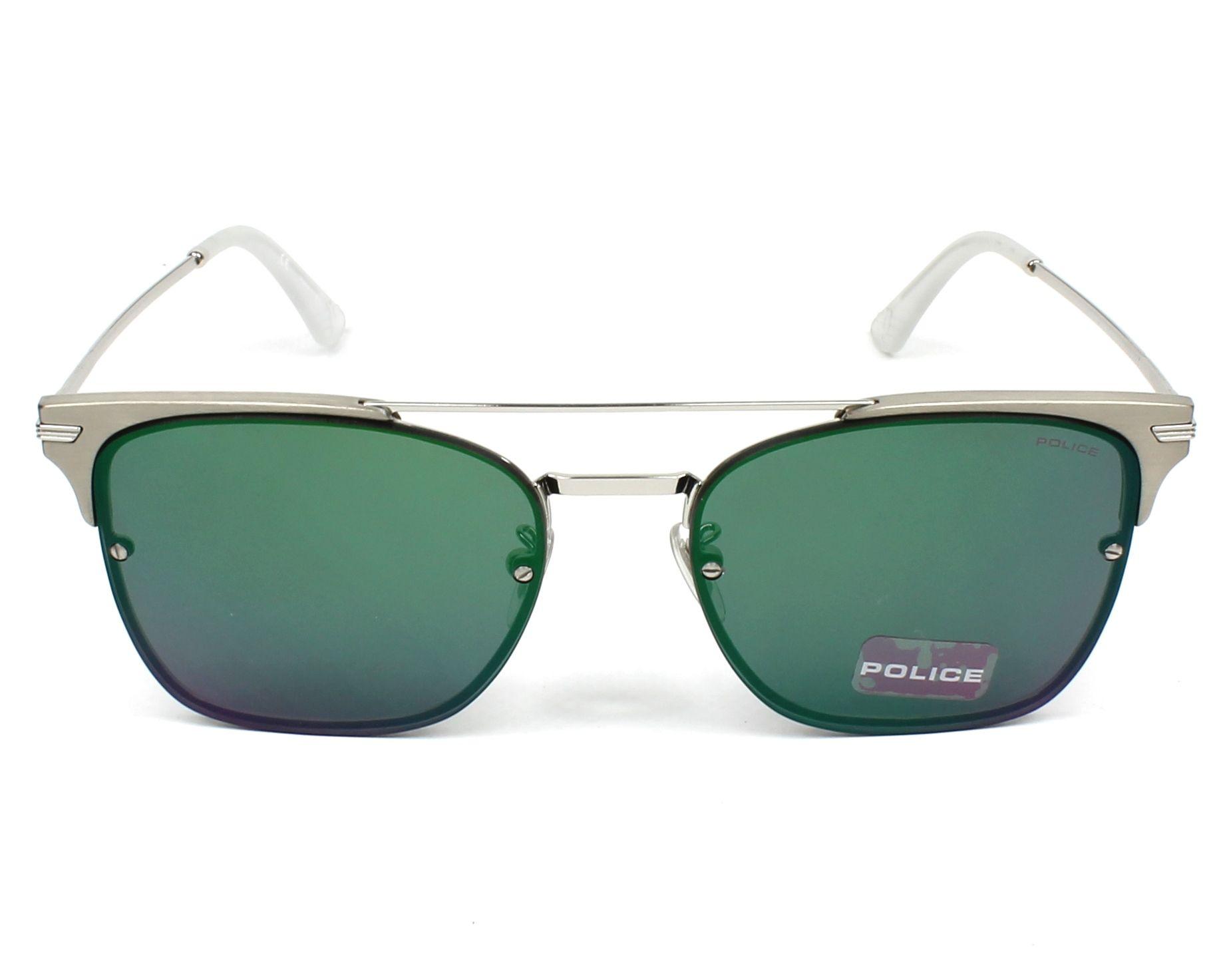 e20f6bafd0c Sunglasses Police SPL-577 579V 56-17 Silver Gun front view