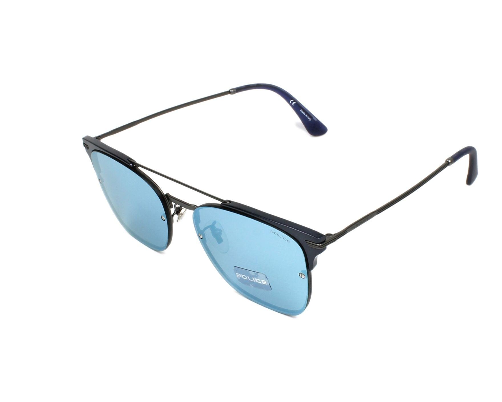 5a01b074699 thumbnail Sunglasses Police SPL-577 627B - Gun Blue profile view
