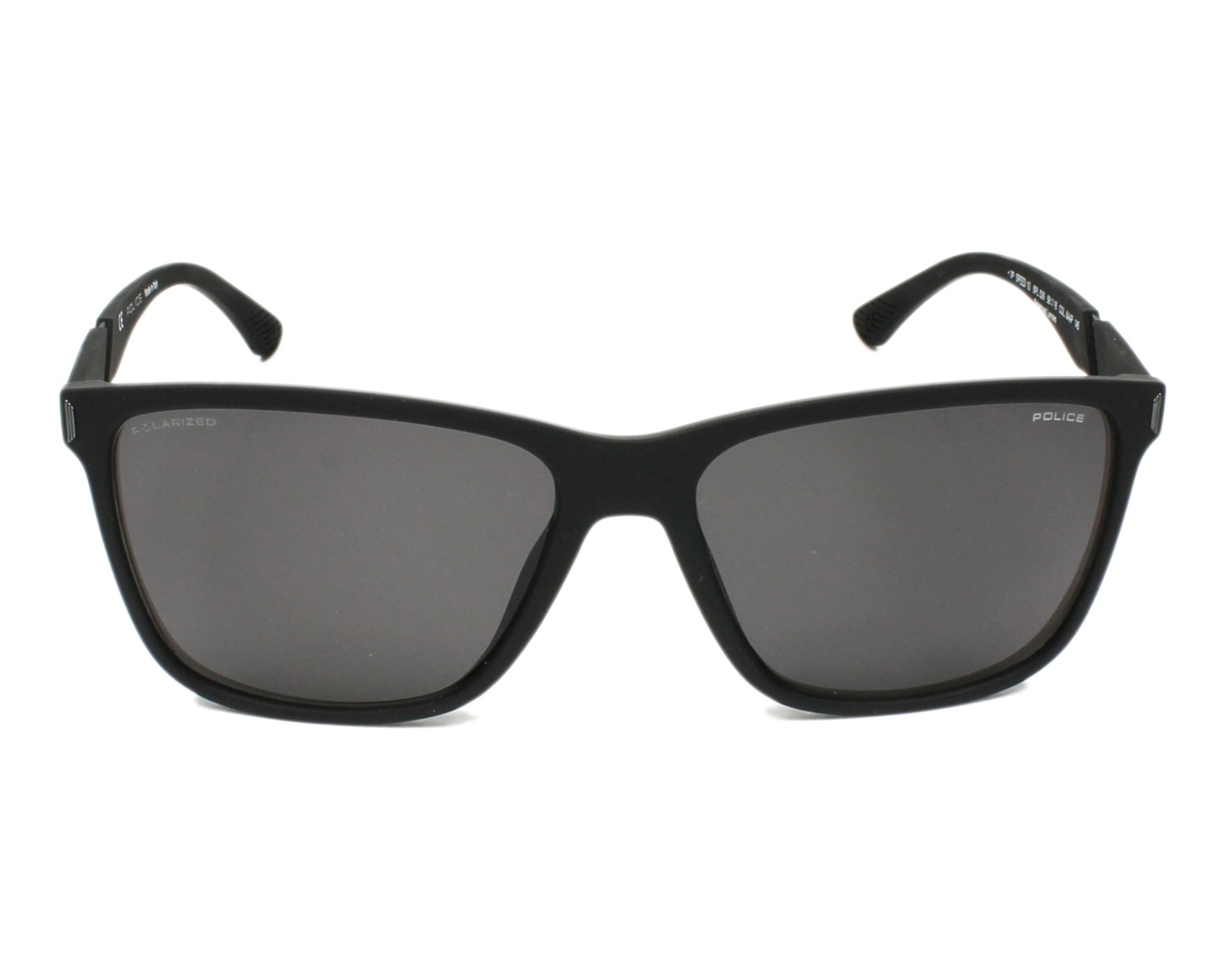 48f4a5d67c Sunglasses Police SPL-529 6AAP 58-16 Black front view