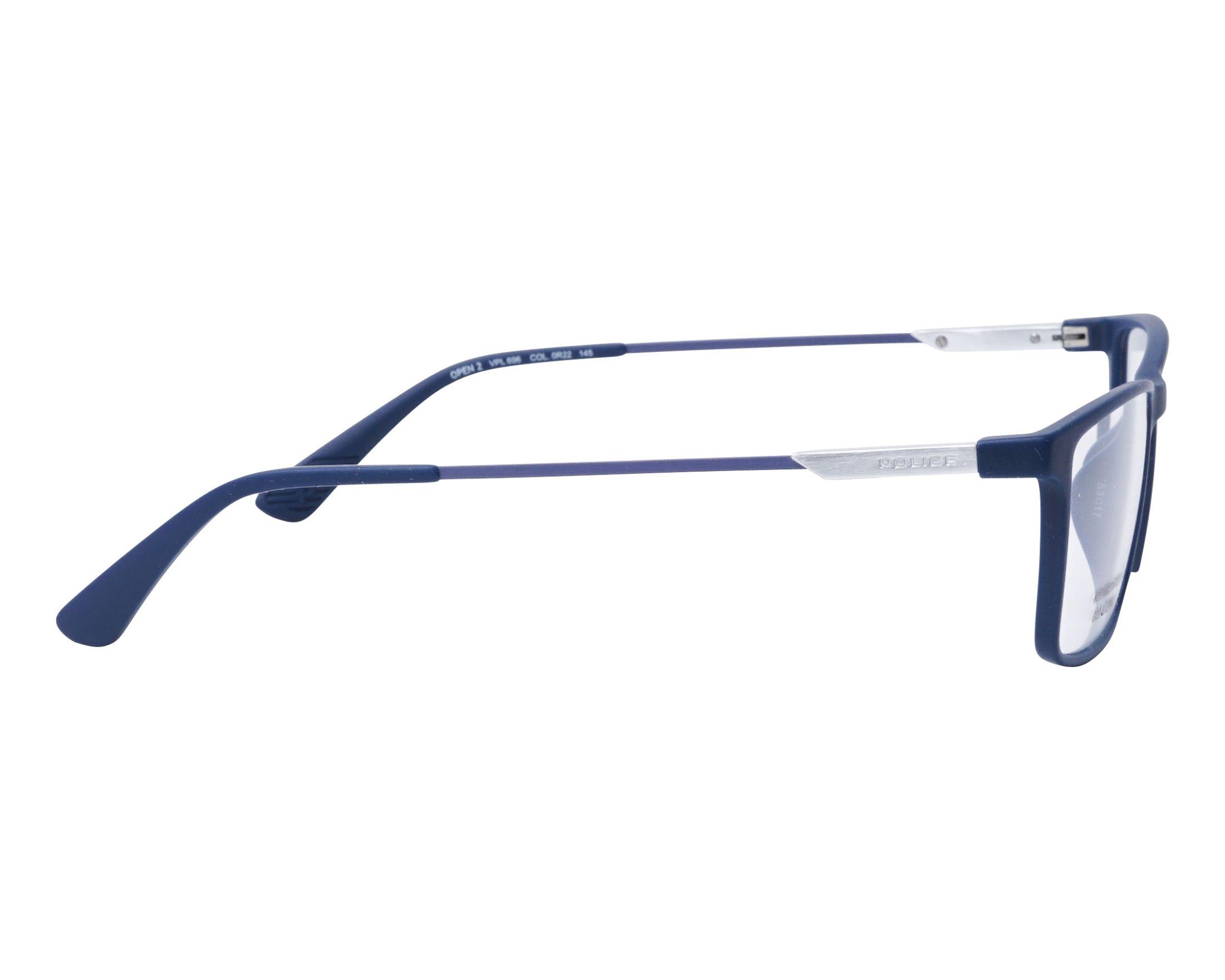 ba4a8179281 thumbnail eyeglasses Police VPL-696 0R22 - Blue side view