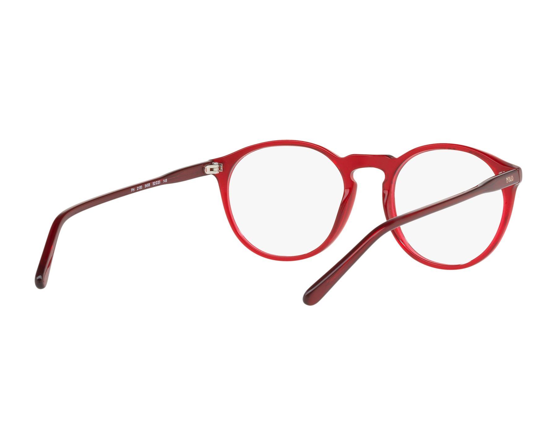 5dbc5297fe eyeglasses Polo Ralph Lauren PH-2180 5458 50-20 Red 360 degree view 8