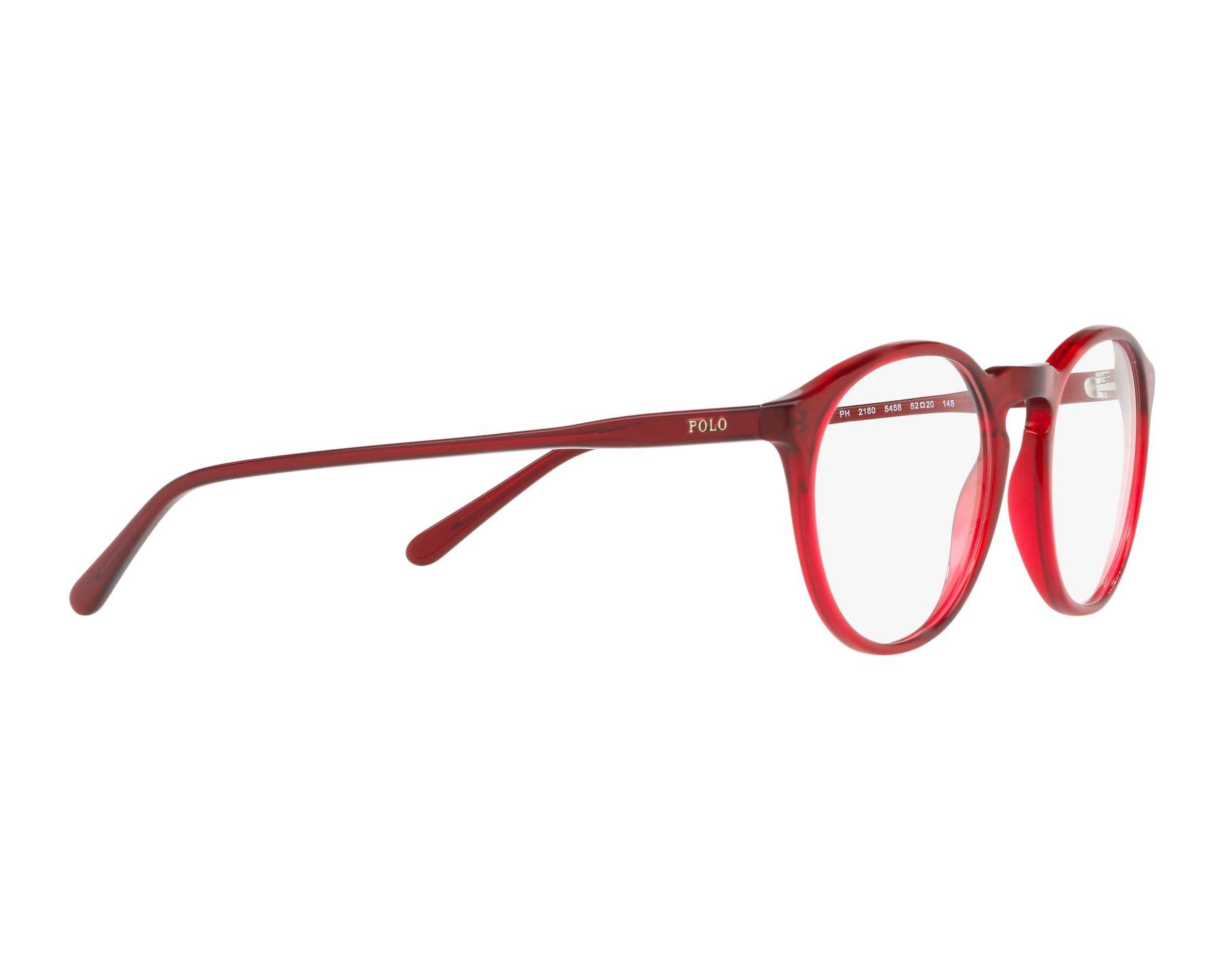 08d9ddc6b8 eyeglasses Polo Ralph Lauren PH-2180 5458 50-20 Red 360 degree view 11