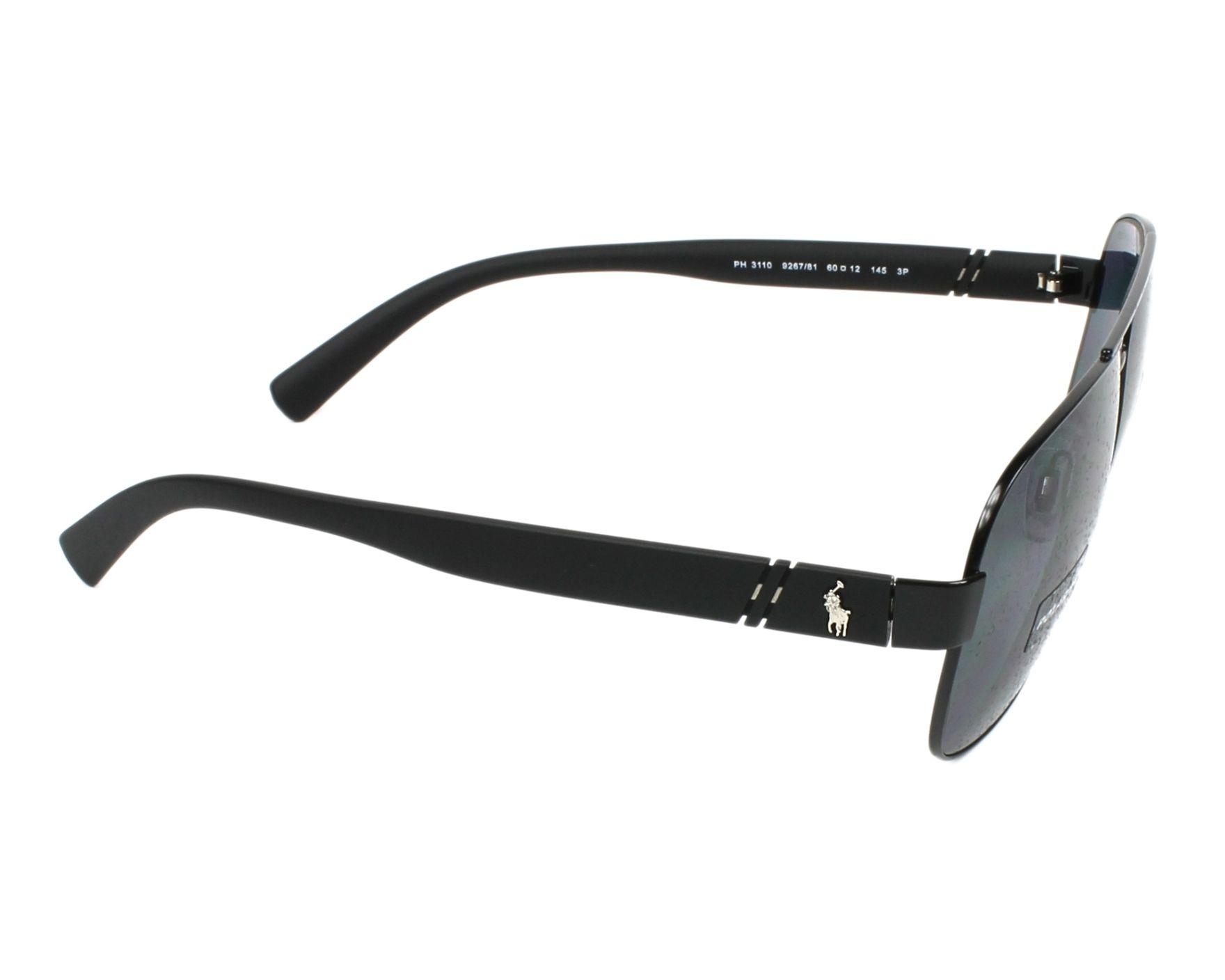 232ac3f094 Sunglasses Polo Ralph Lauren PH-3110 926781 - Black side view