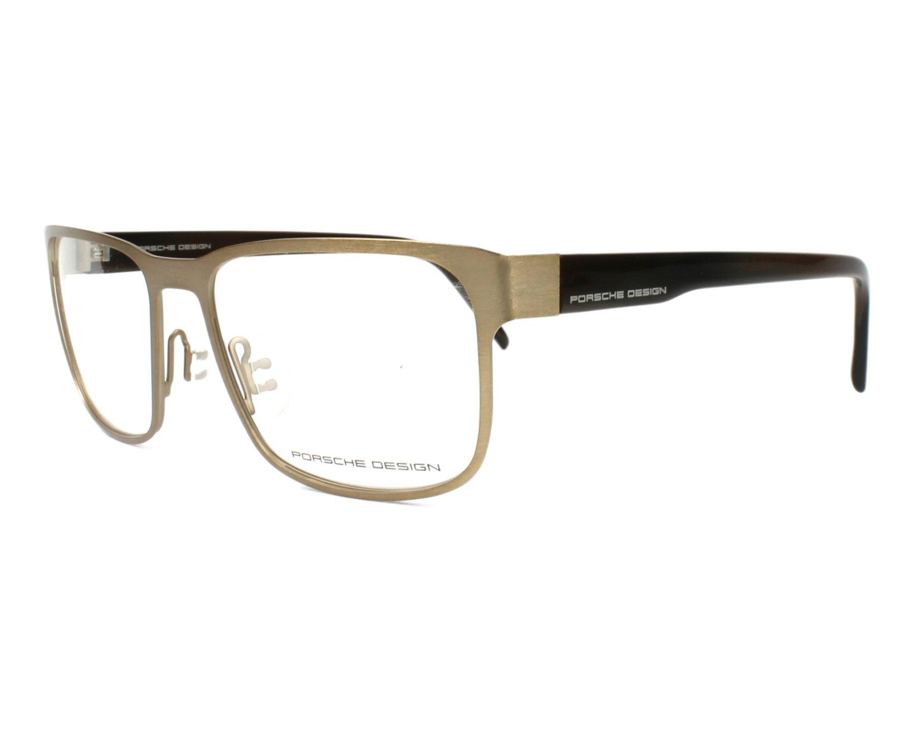 3ad6b605db6 eyeglasses Porsche Design P-8291 D 55-18 Gold Brown profile view