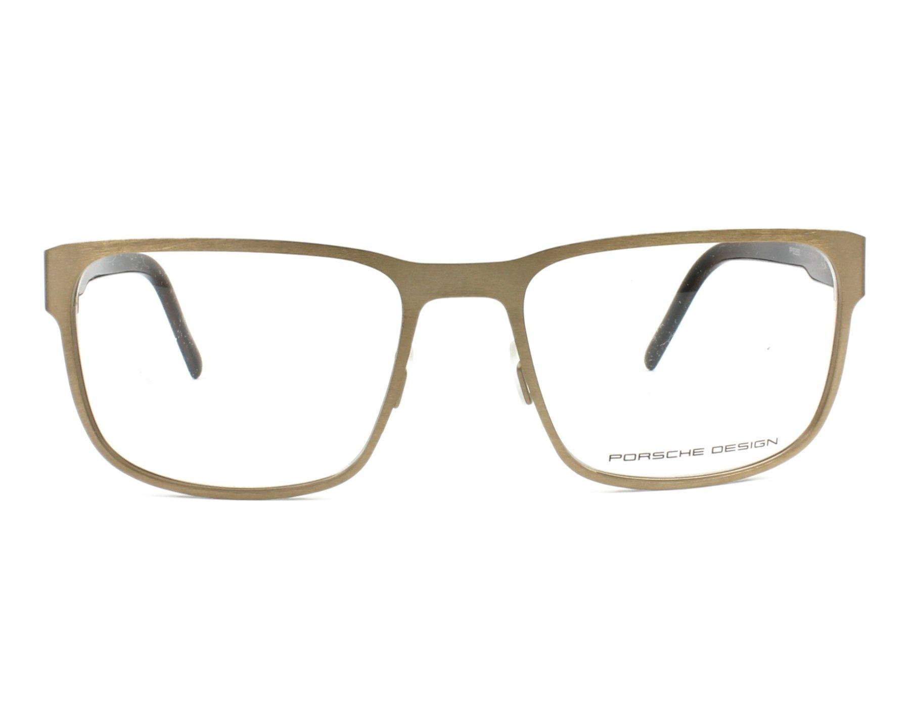 4ec1c8763c1 eyeglasses Porsche Design P-8291 D 55-18 Gold Brown front view