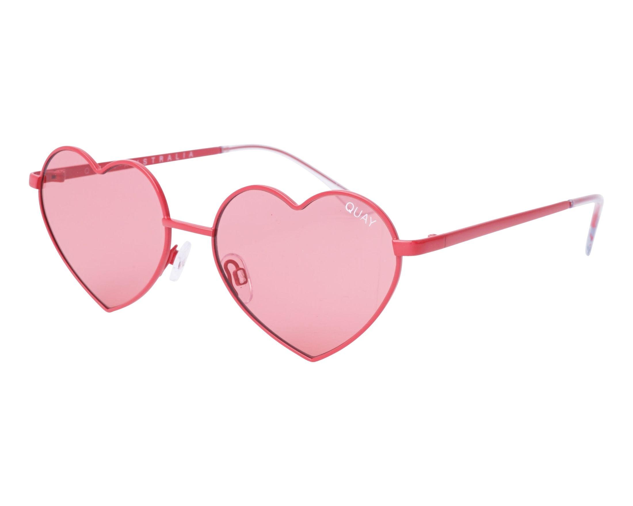 cd4bbf459b1 thumbnail Sunglasses Quay Australia QW-000308 RED-RED - Rosa profile view