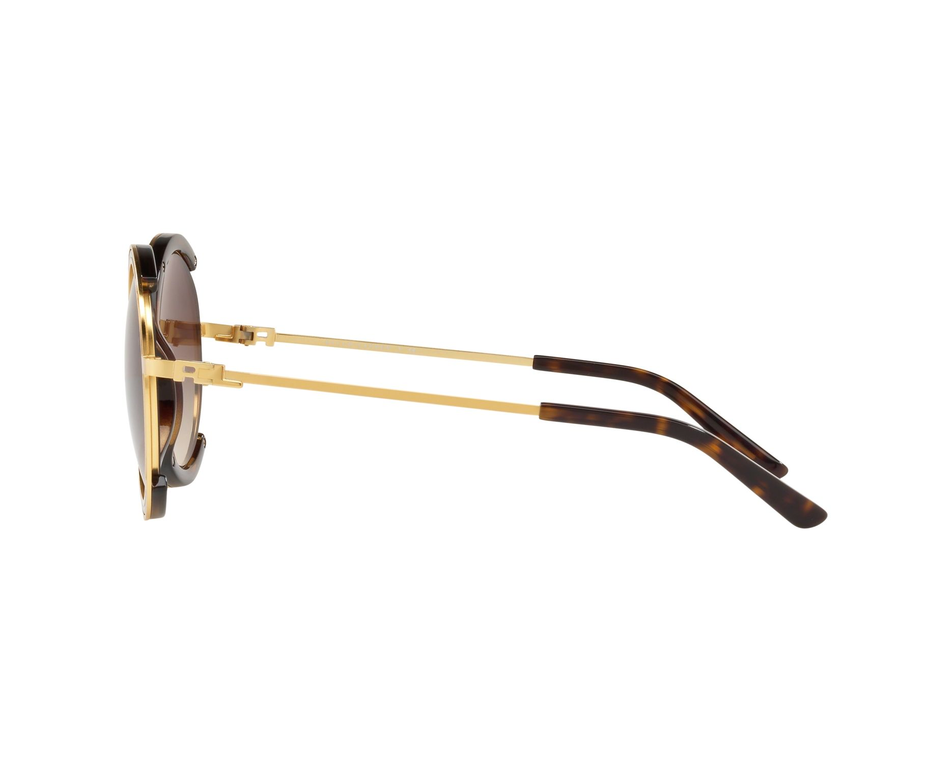 97ab426cc5a Sunglasses Ralph Lauren RL-7060 934813 53-20 Gold Havana 360 degree view 4