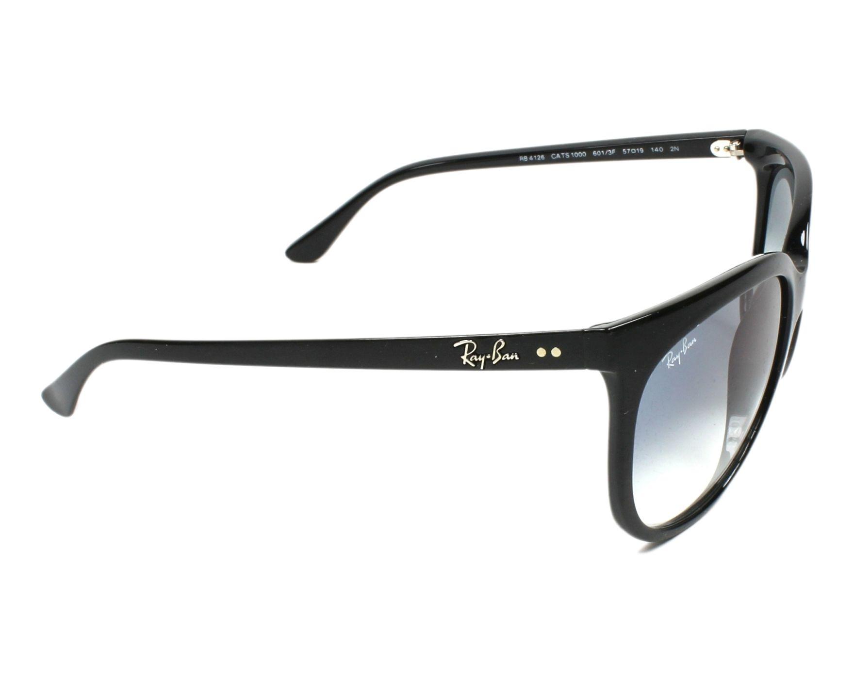 398c680df7 Sunglasses Ray-Ban RB-4126 601 3F 57-15 Black side view