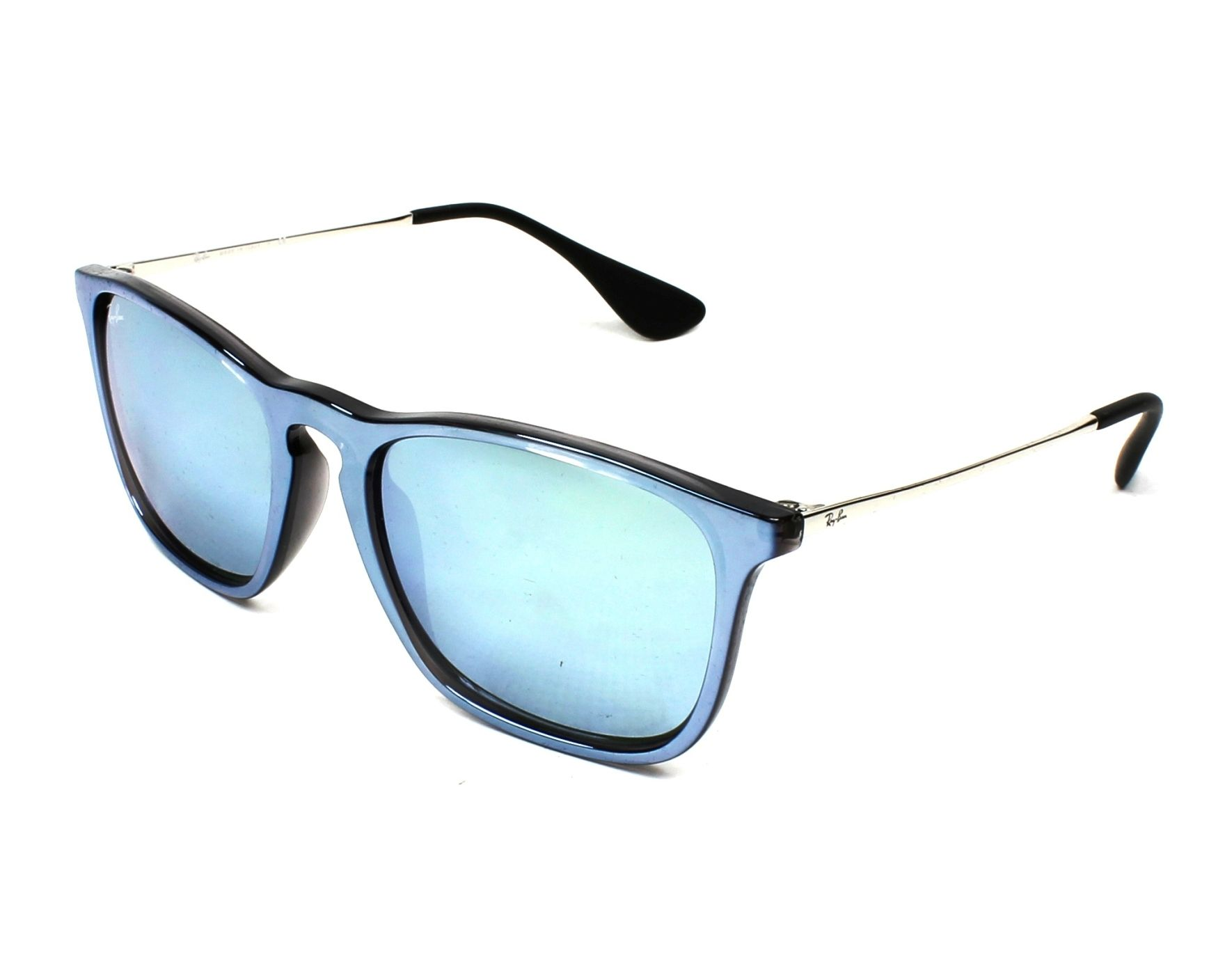 dfda1a143d9 Sunglasses Ray-Ban RB-4187 631930 54-18 Blue Silver profile view