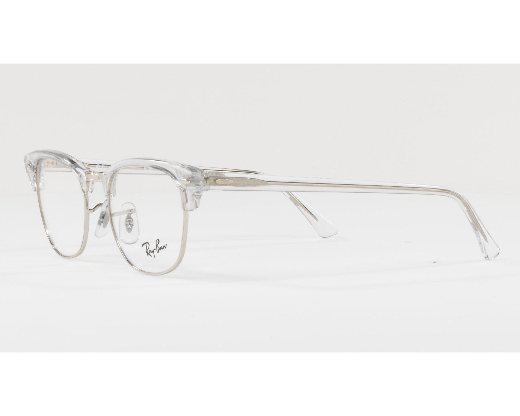 0978d03bc4a eyeglasses Ray-Ban RX-5154 2001 49-21 Crystal Silver 360 degree view