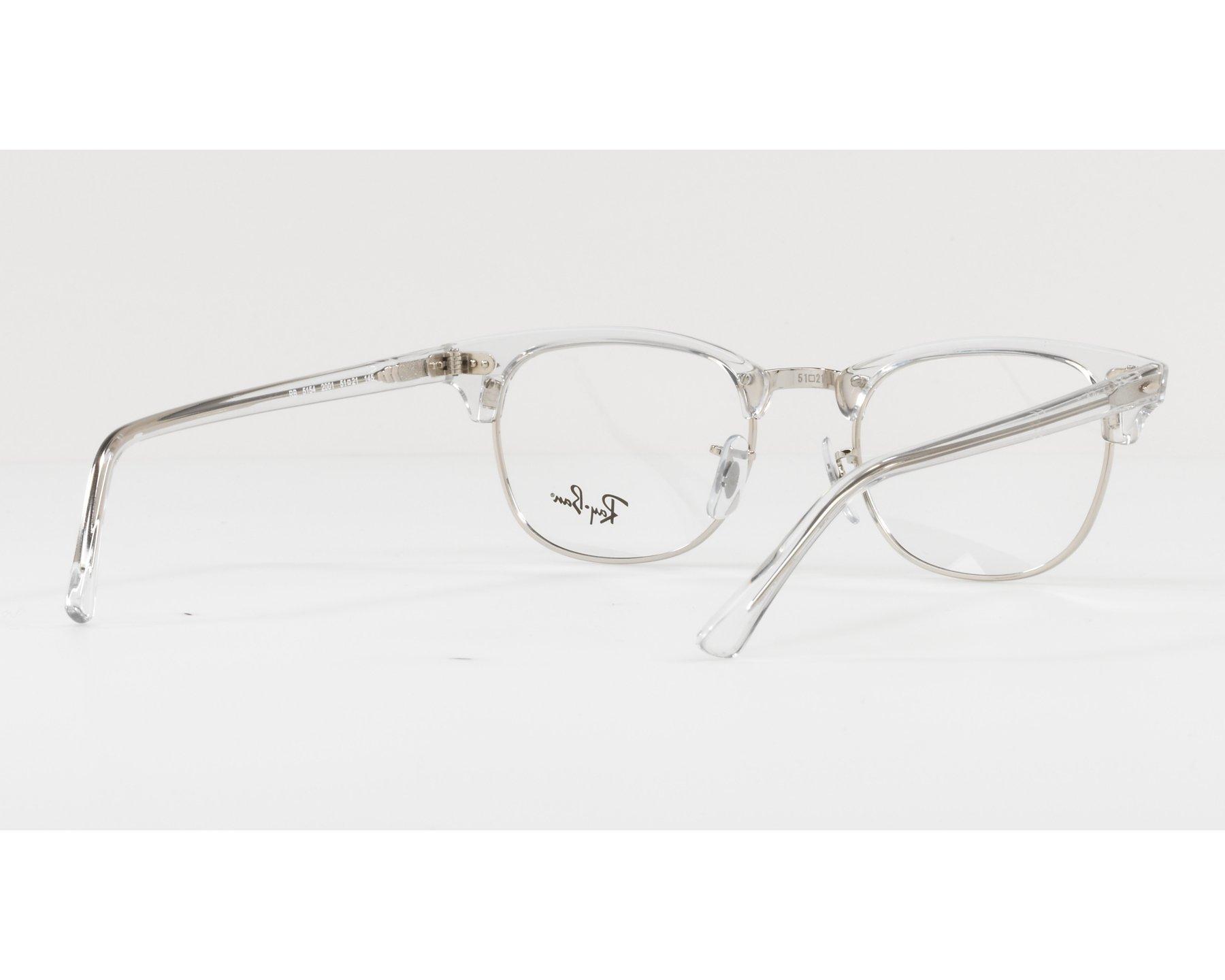 4298ea8cf8c68 eyeglasses Ray-Ban RX-5154 2001 49-21 Crystal Silver 360 degree view