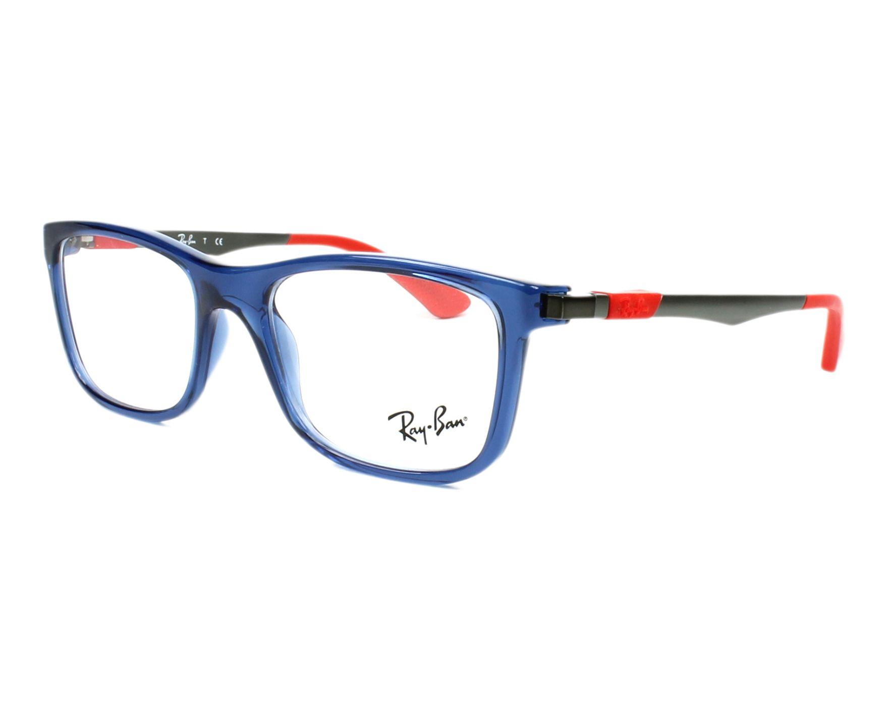 6a7b2d5400 eyeglasses Ray-Ban RY-1549 3734 - Blue Gun profile view