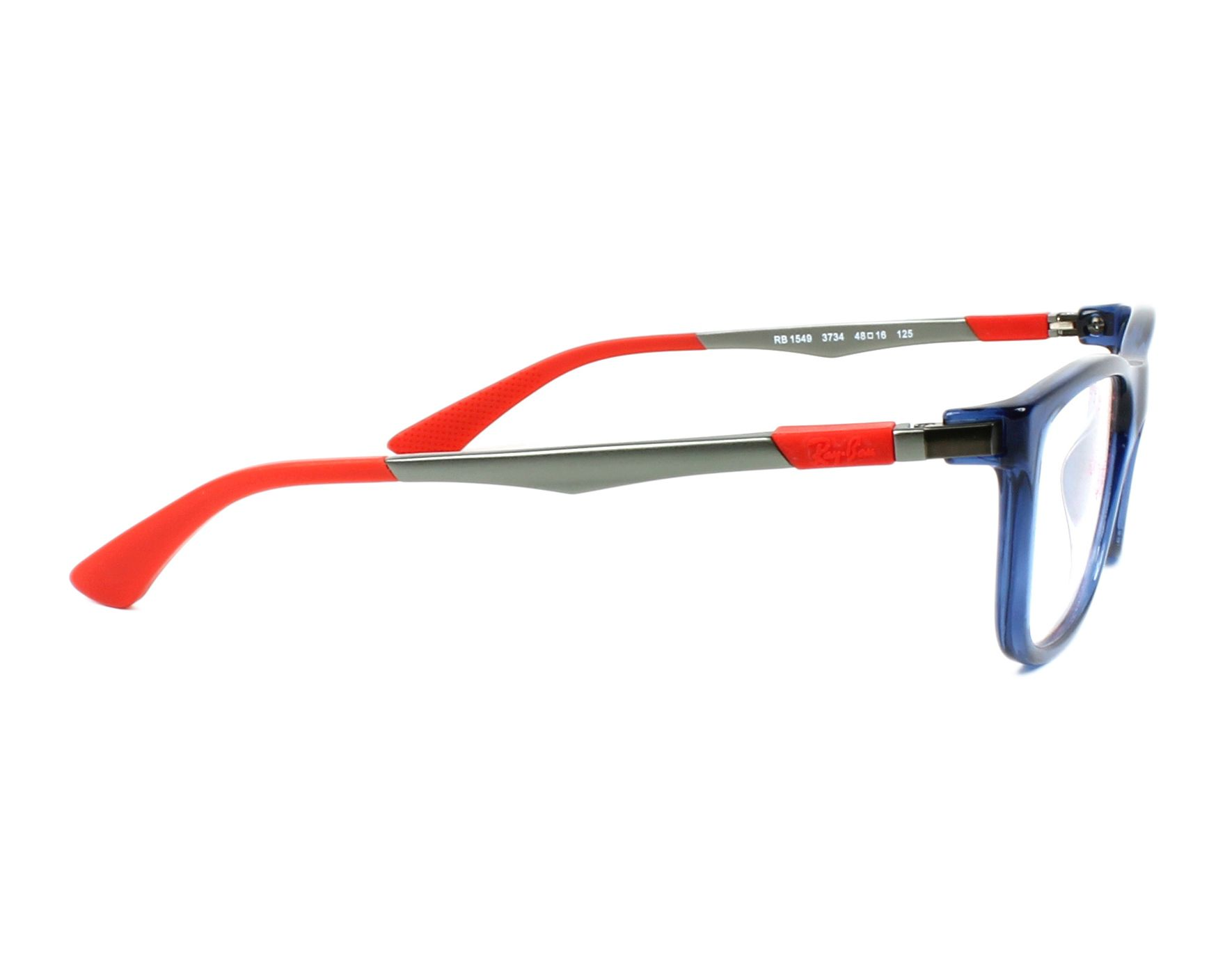 9f610be774 eyeglasses Ray-Ban RY-1549 3734 - Blue Gun side view