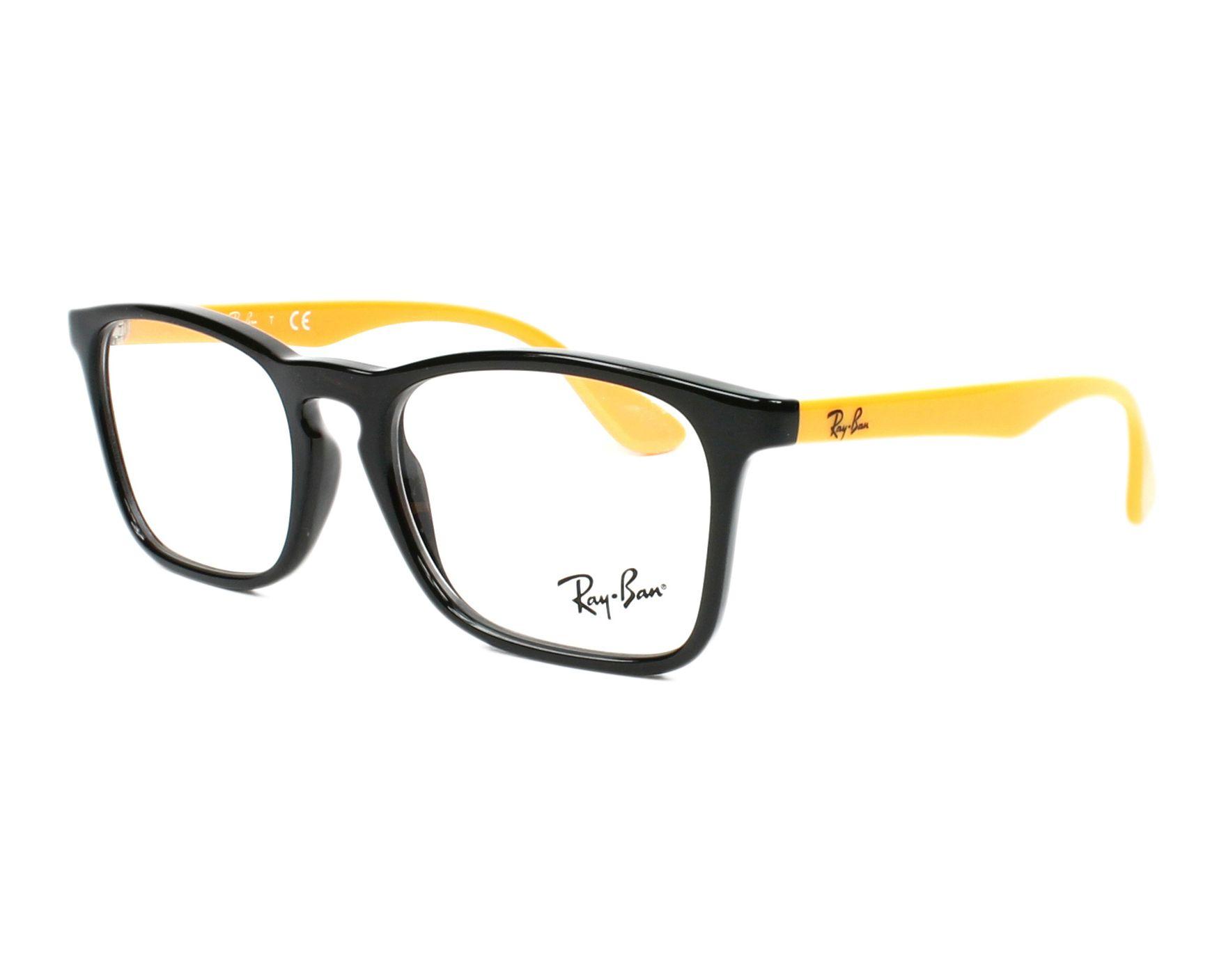 f40c6186059852 eyeglasses Ray-Ban RY-1553 3724 48-16 Black Yellow profile view