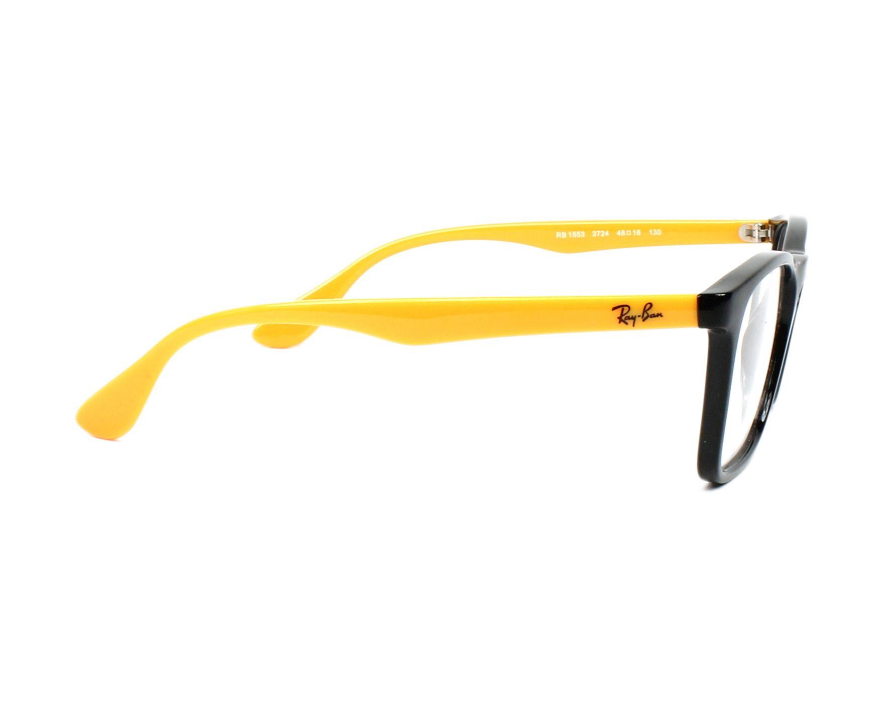 67b45b101c18ab eyeglasses Ray-Ban RY-1553 3724 48-16 Black Yellow side view