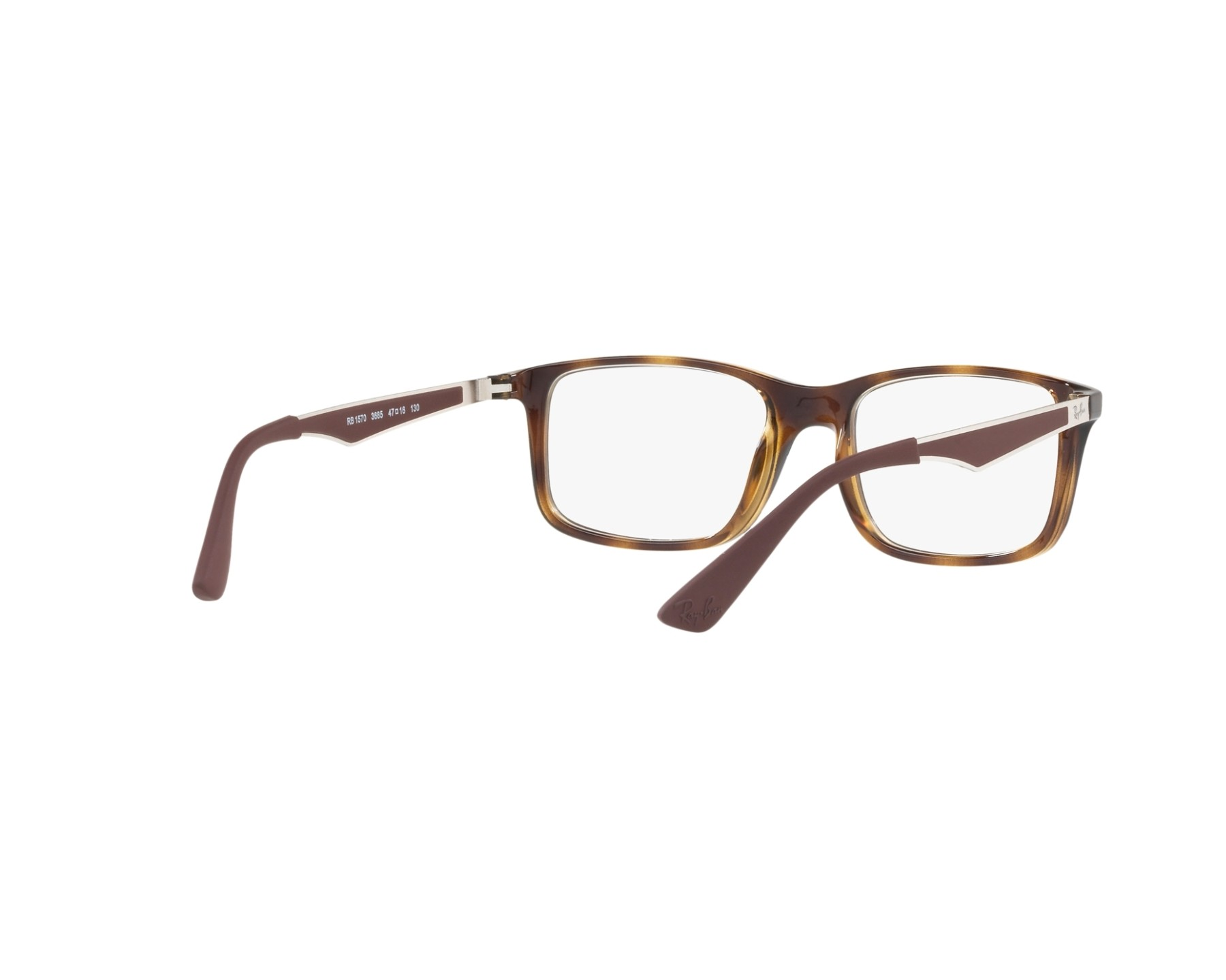 eyeglasses Ray-Ban RY-1570 3685 49-16 Brown Gun 360 degree view a50e32809829