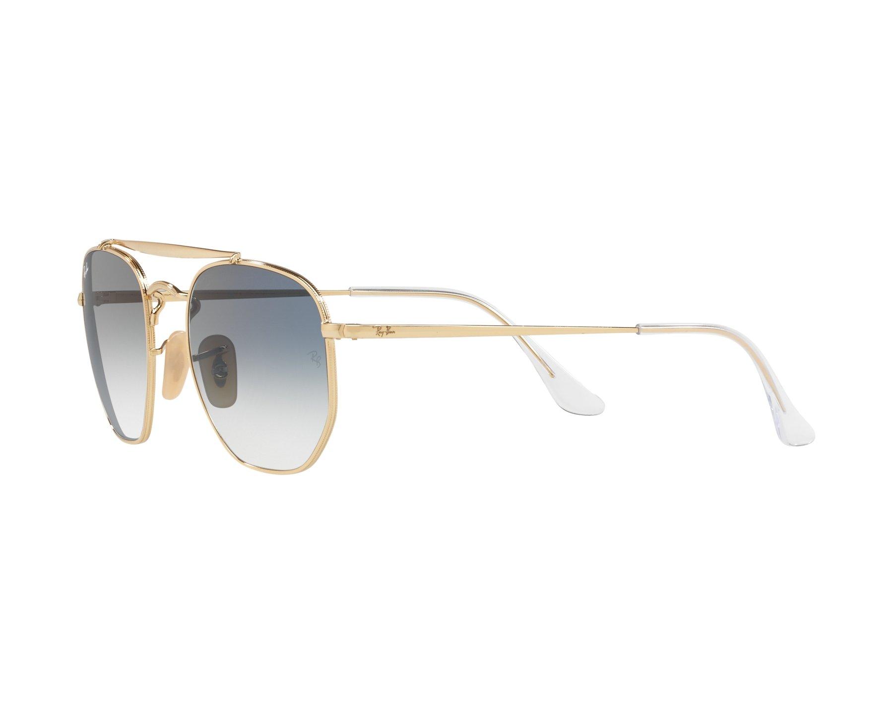 431aee4fb7fe7 Sunglasses Ray-Ban RB-3648 001 3F 54-21 Gold 360 degree