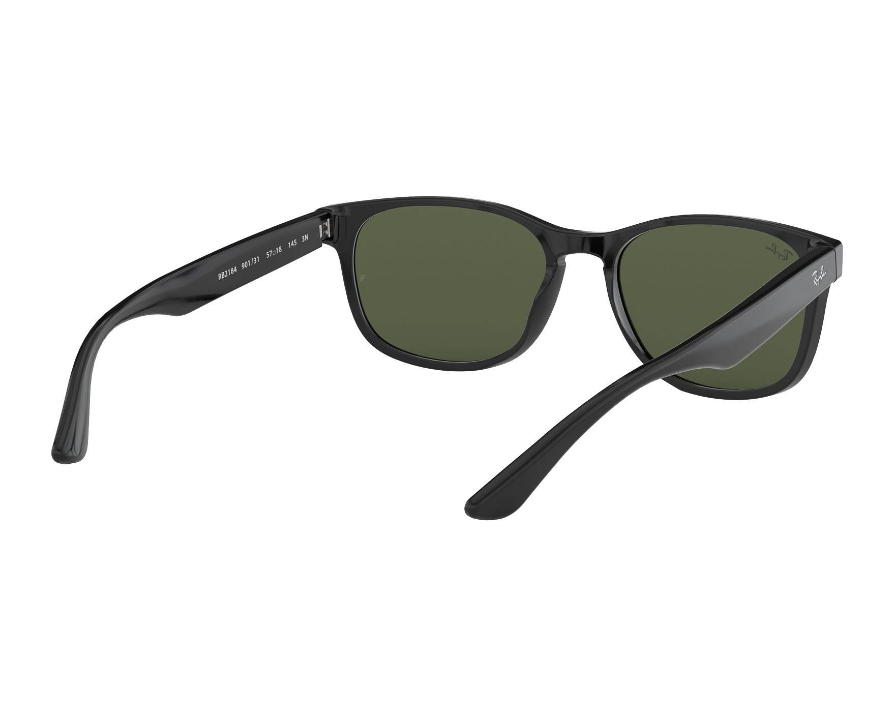 0e43543e80b Sunglasses Ray-Ban RB-2184 901 31 57-18 Black 360 degree