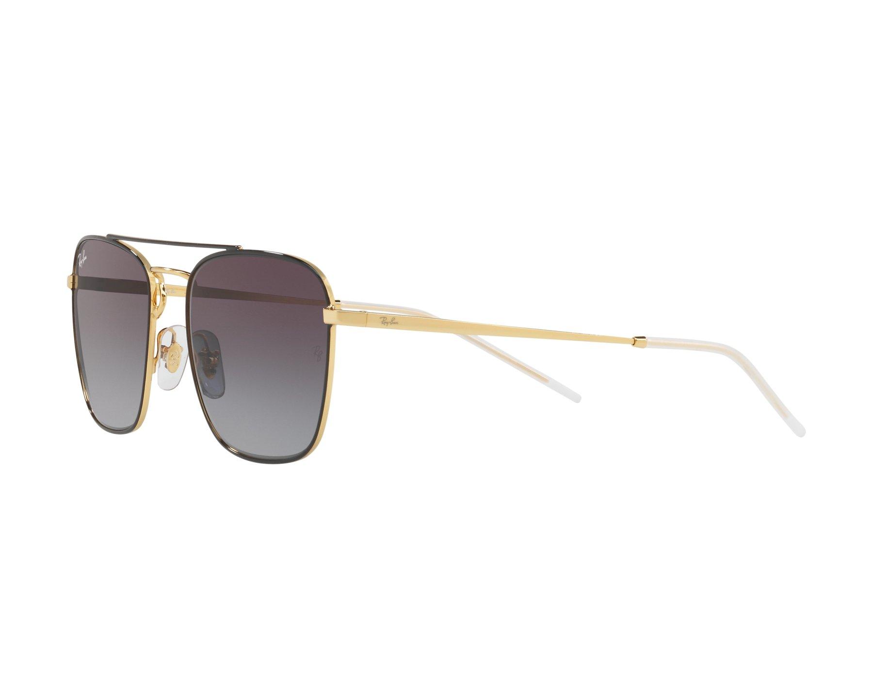 70c623ca02 Sunglasses Ray-Ban RB-3588 90548G 55-19 Black Gold 360 degree view