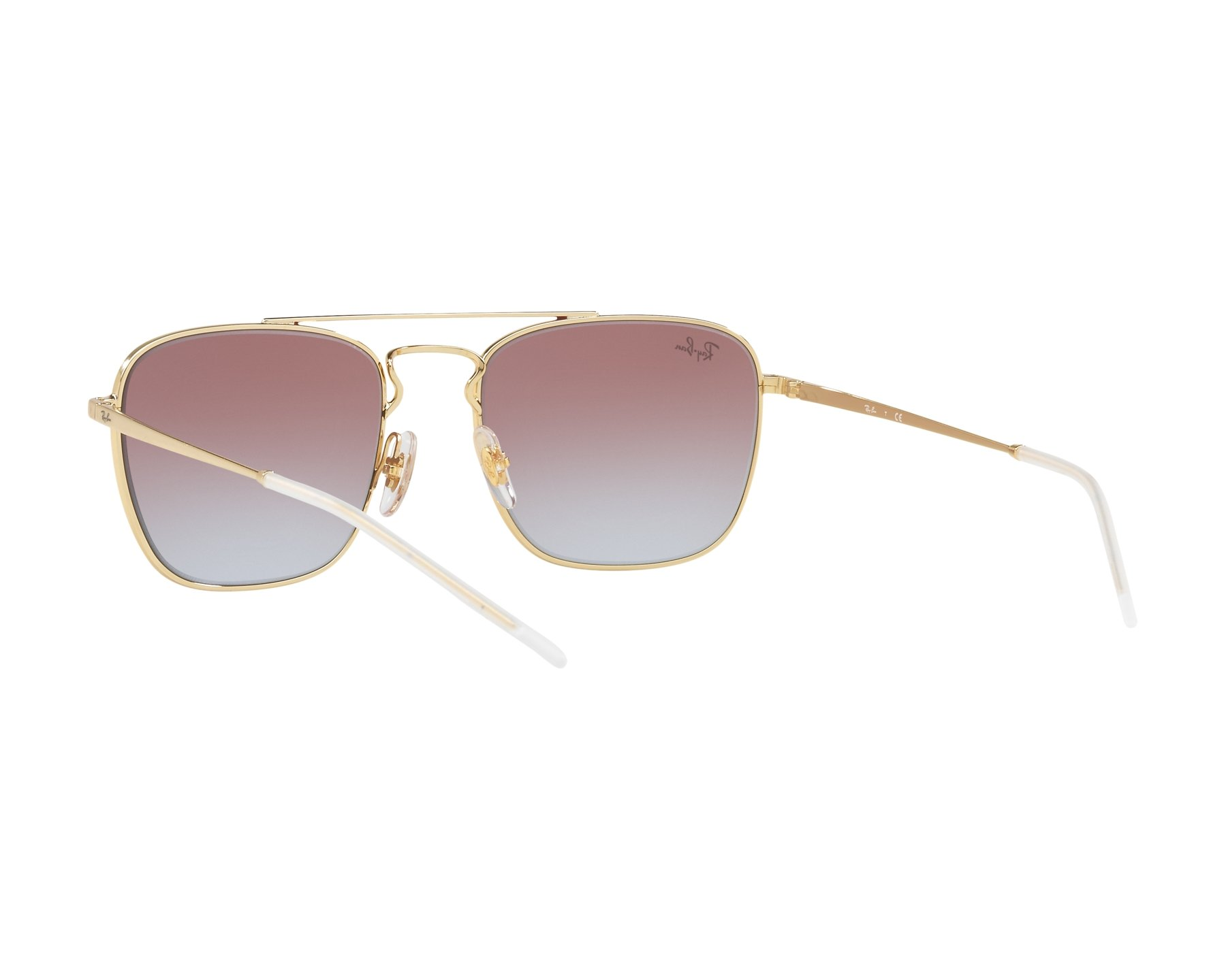 7dbf5f8eed9 Sunglasses Ray-Ban RB-3588 9060l8 55-19 Bordeaux Gold 360 degree view