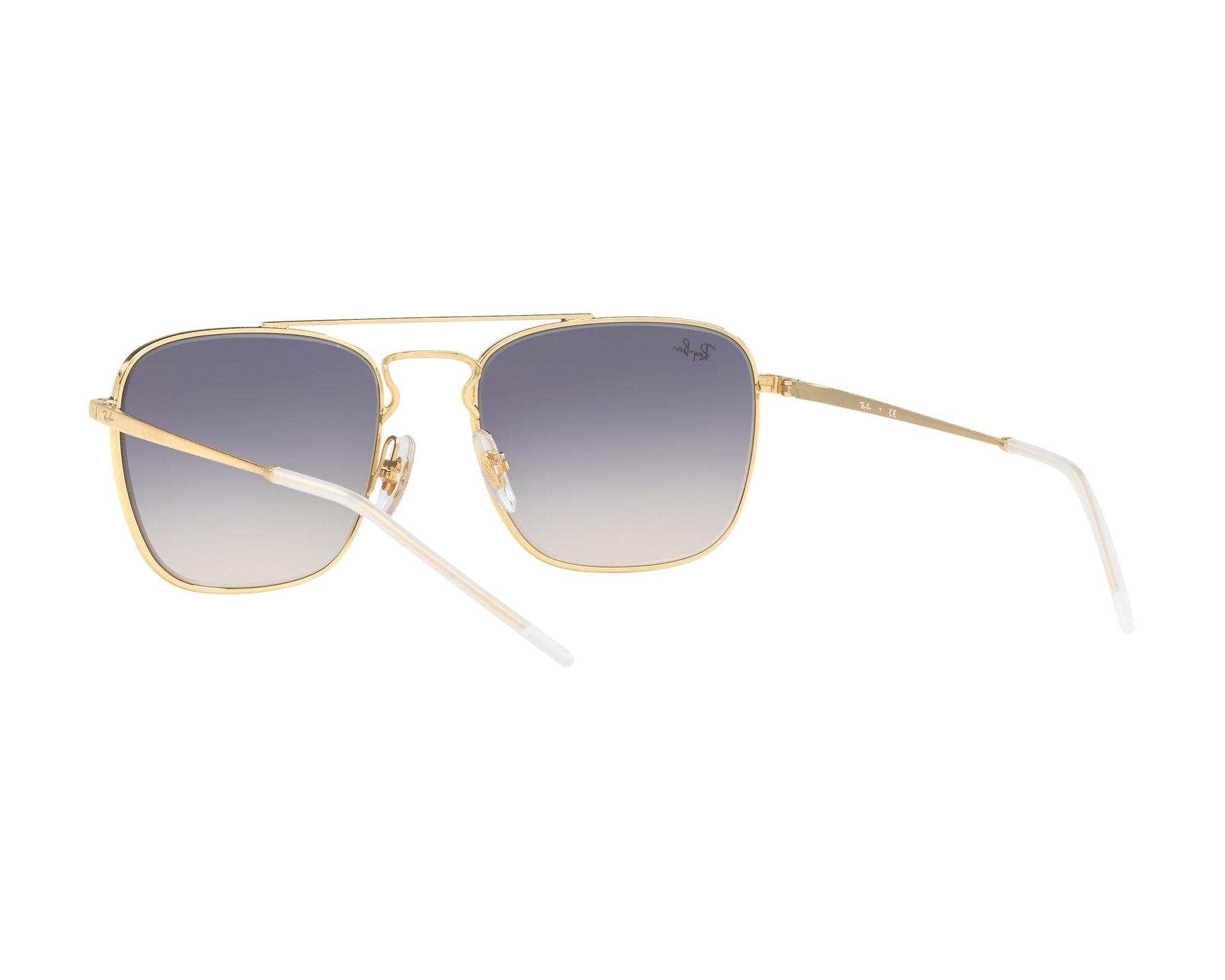 fa1ed9ddaae Sunglasses Ray-Ban RB-3588 9063l9 55-19 Grey Gold 360 degree view